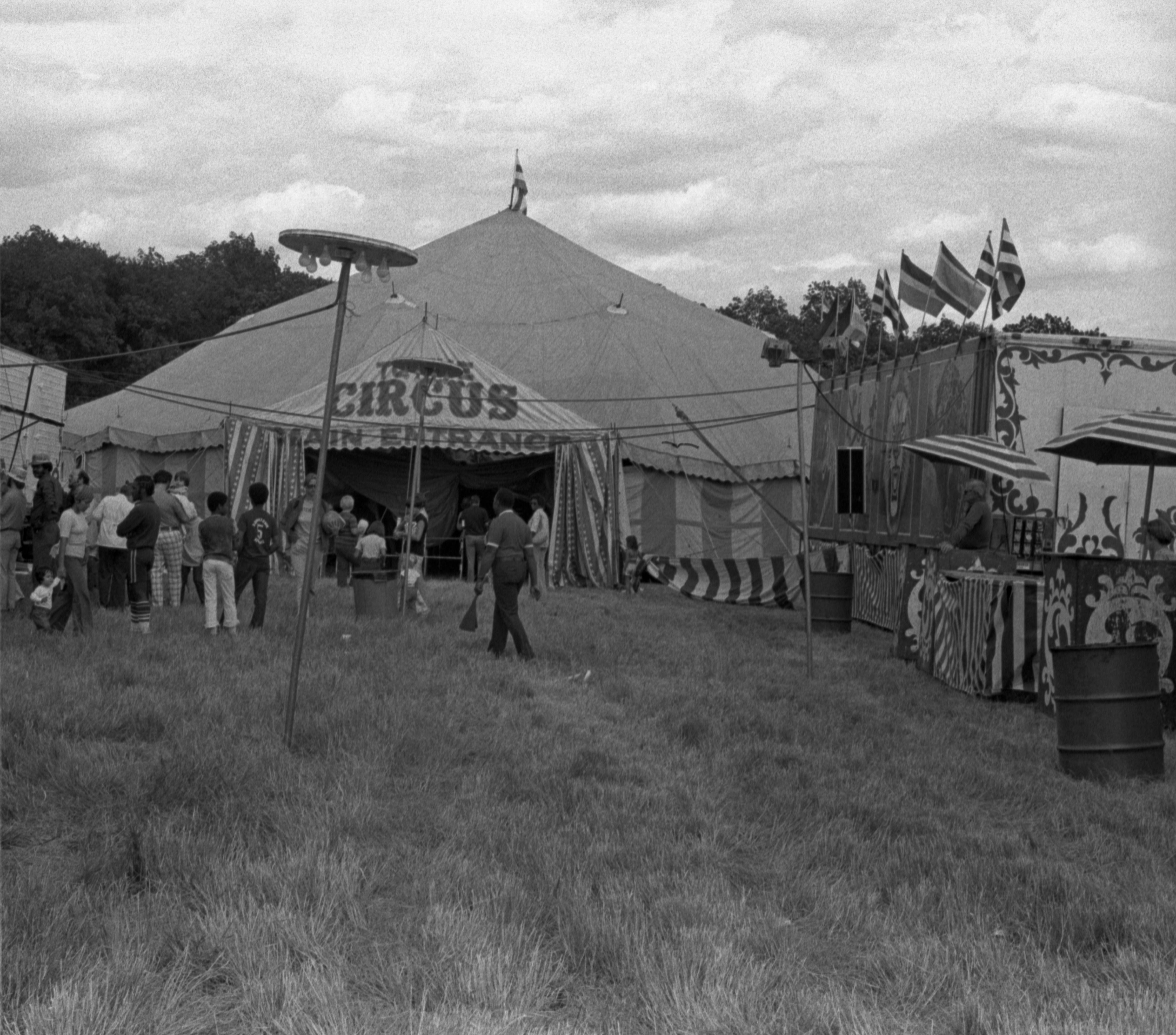 Outside The Tent Of The Hagan-Wallace-Sells-Gray Circus, July 27, 1977 image