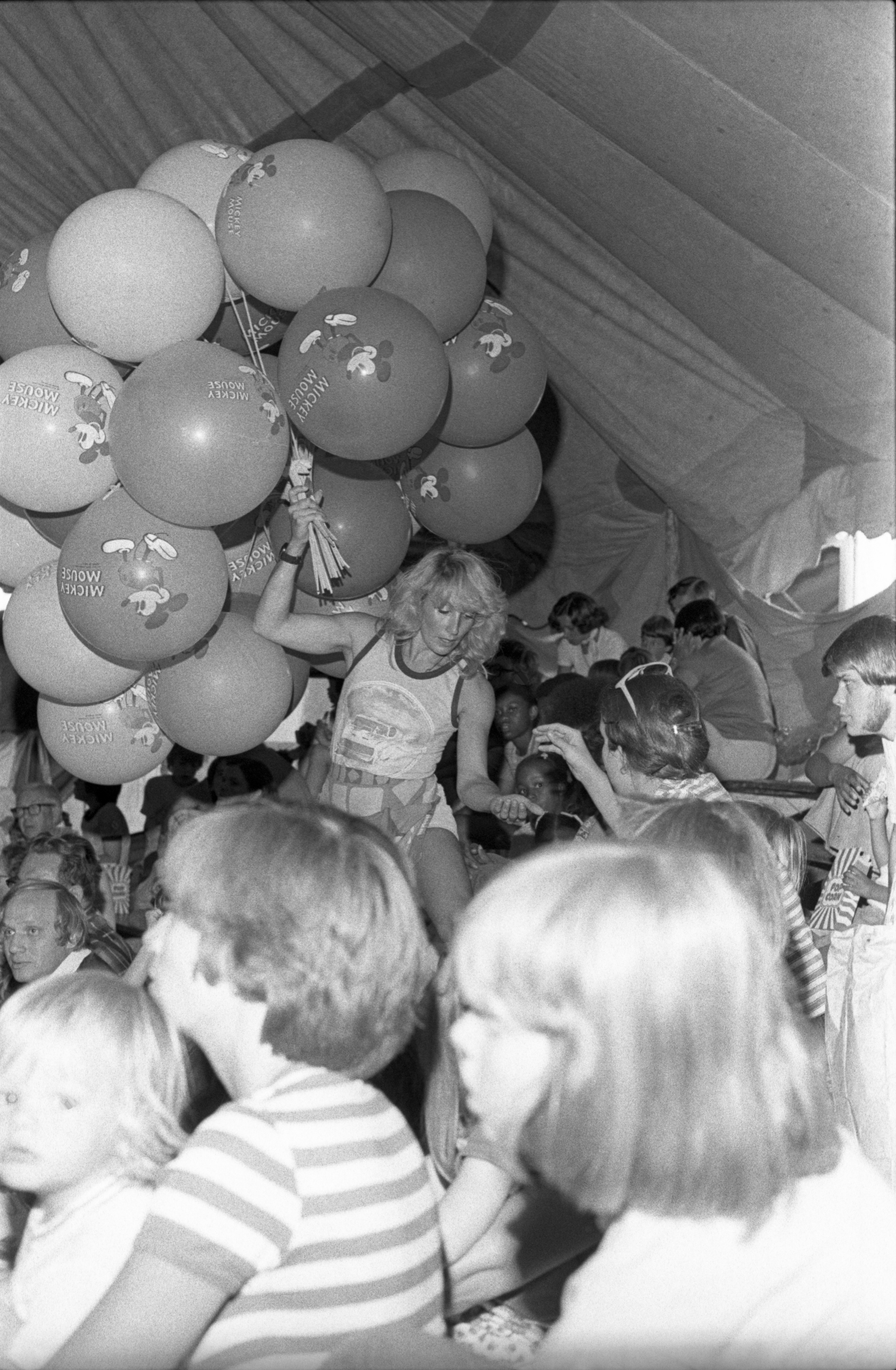 Selling Balloons At The Hagan-Wallace-Sells-Gray Circus, July 27, 1977 image