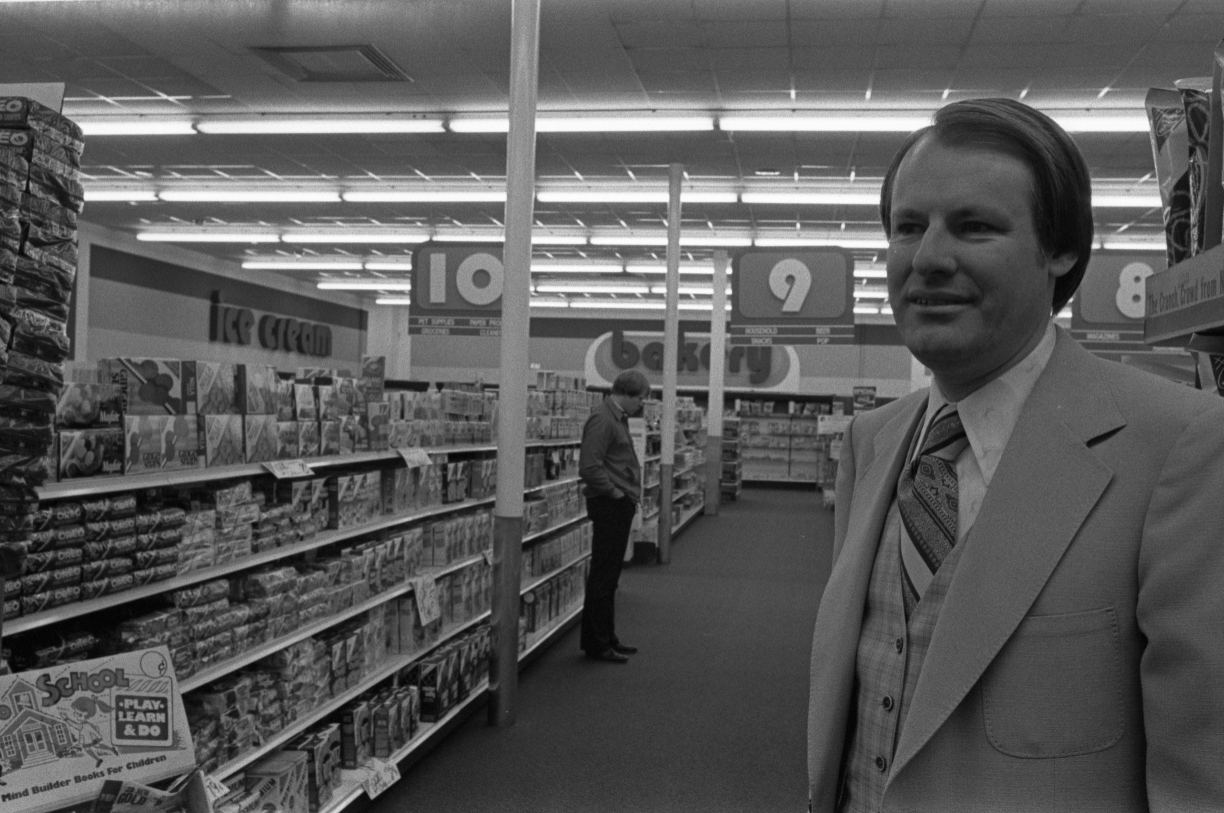 Interior Of Richardson's Pharmacy In The Lamp Post Plaza With Owner, Joe Decker, October 18, 1977 image
