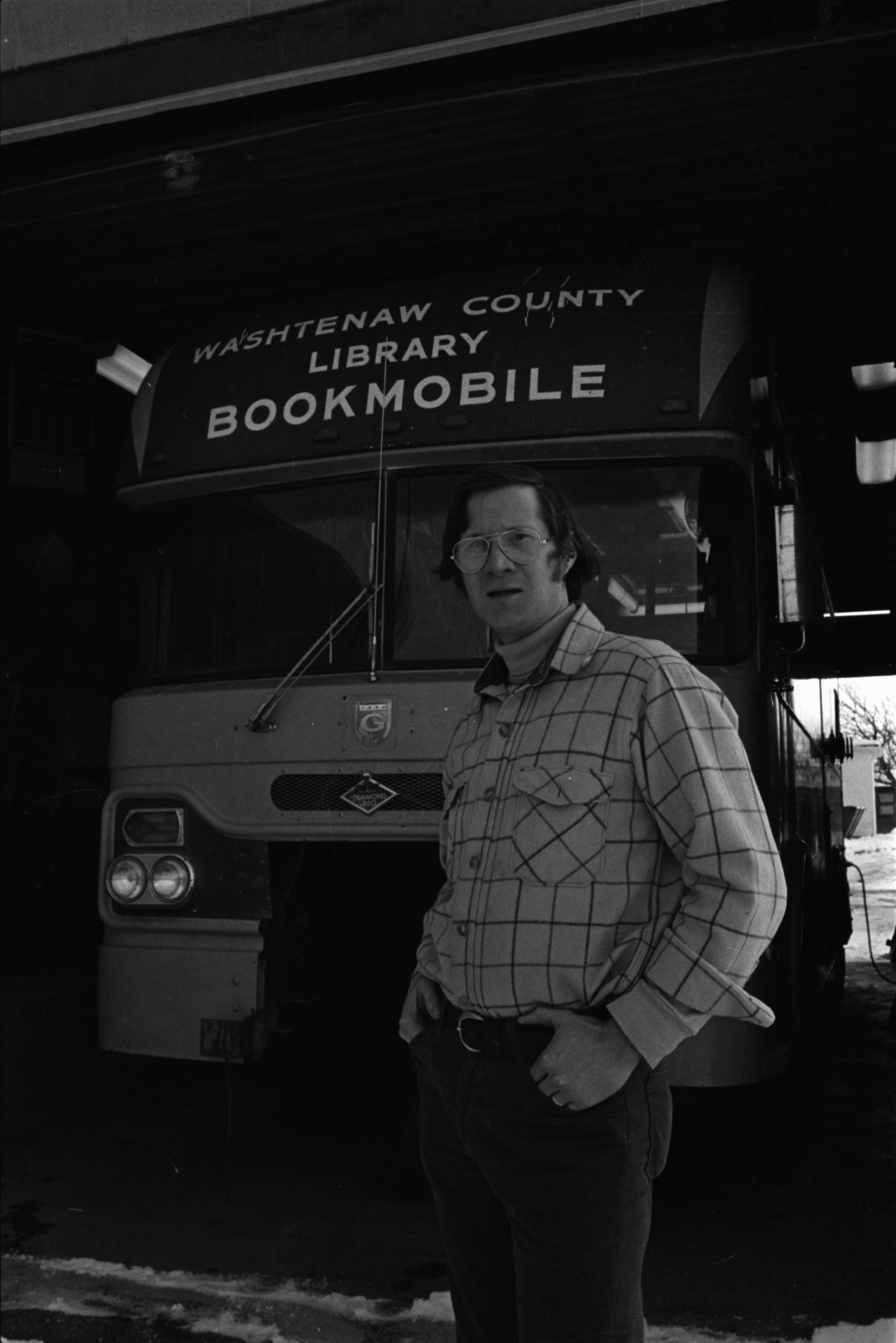 Tired, Old Bookmobile Near Death, January 1978 image