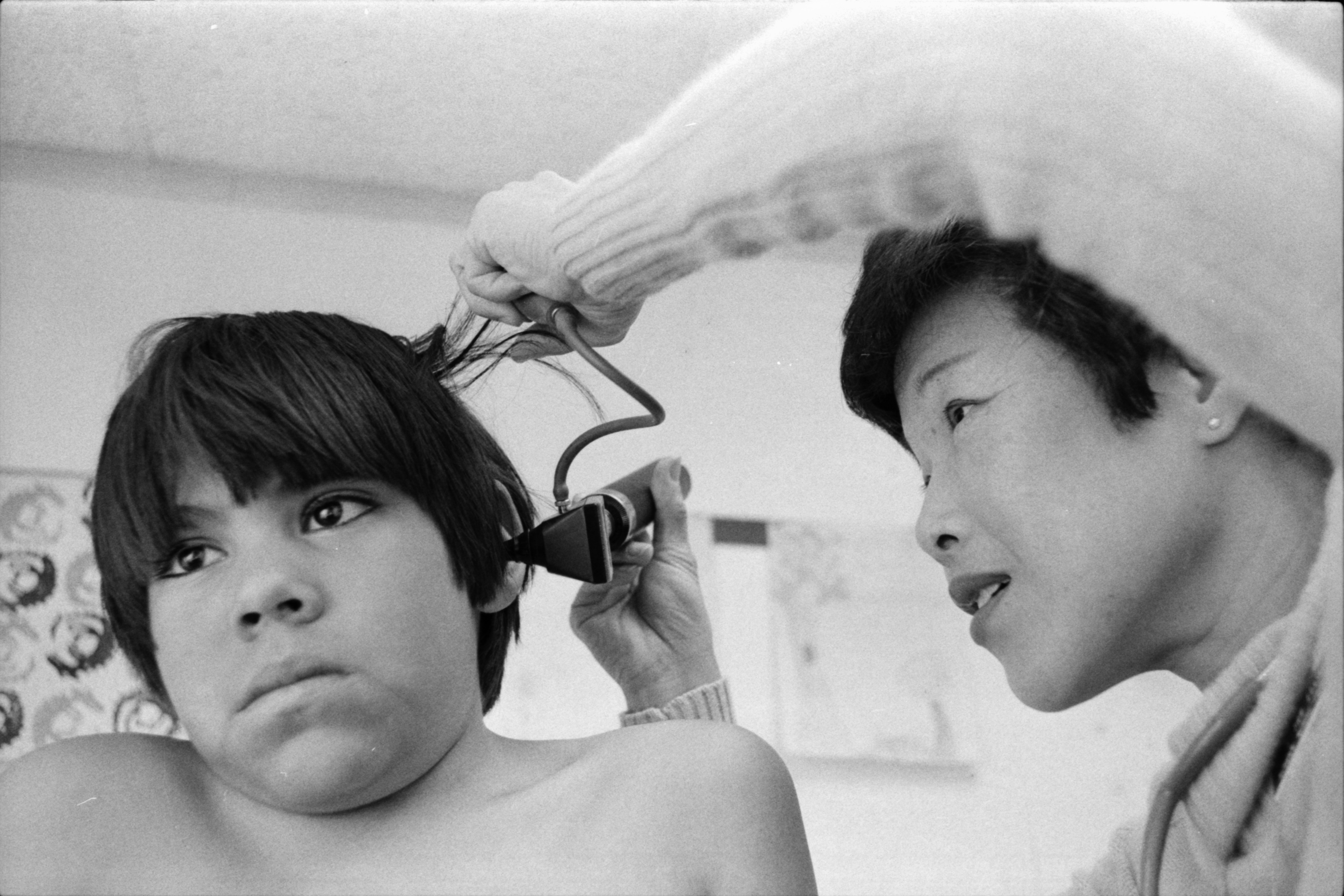 Ear Check at the Packard Community Clinic, January 1978 image