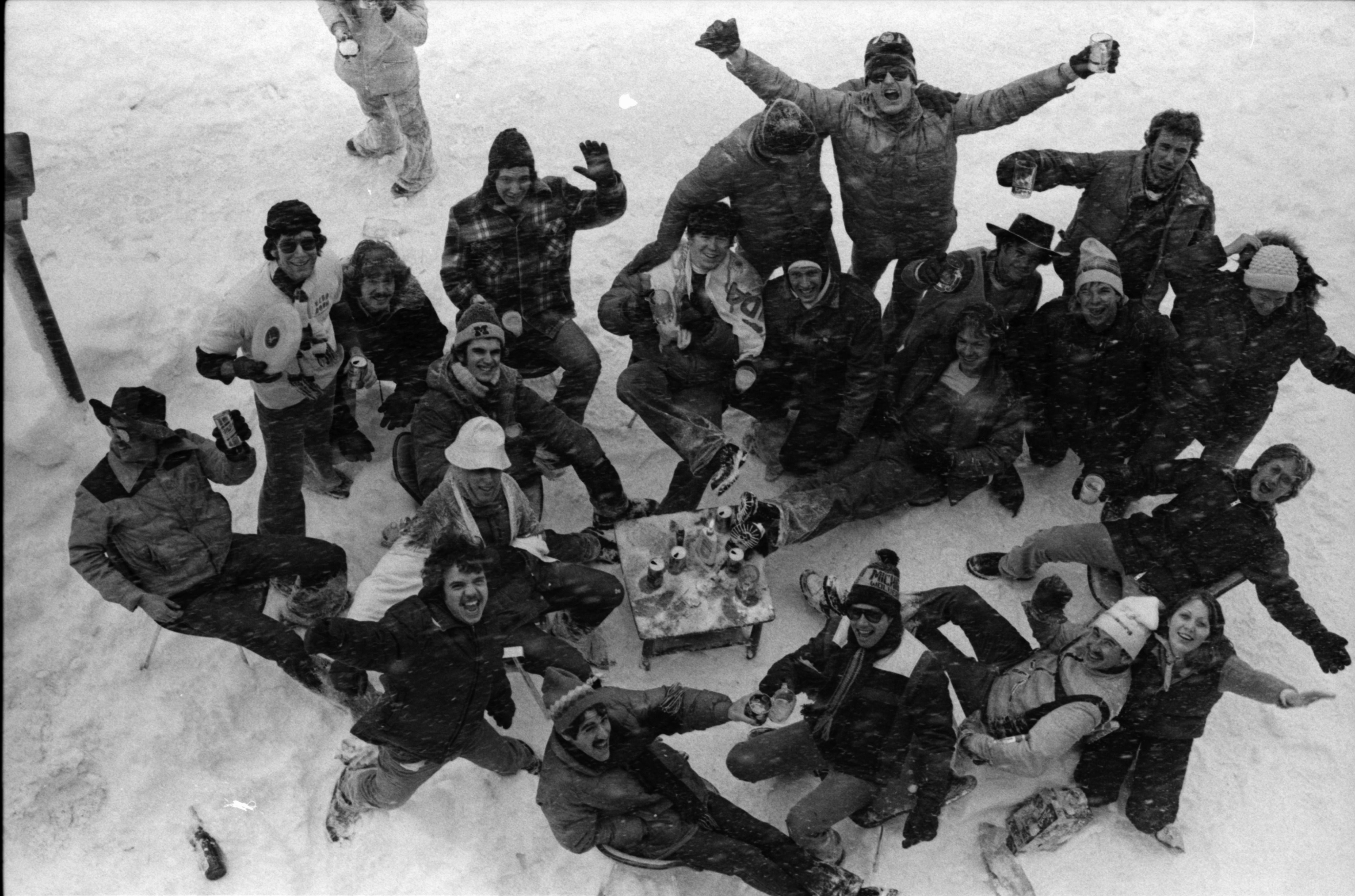 University Of Michigan Students Revel In The Blizzard January 1978