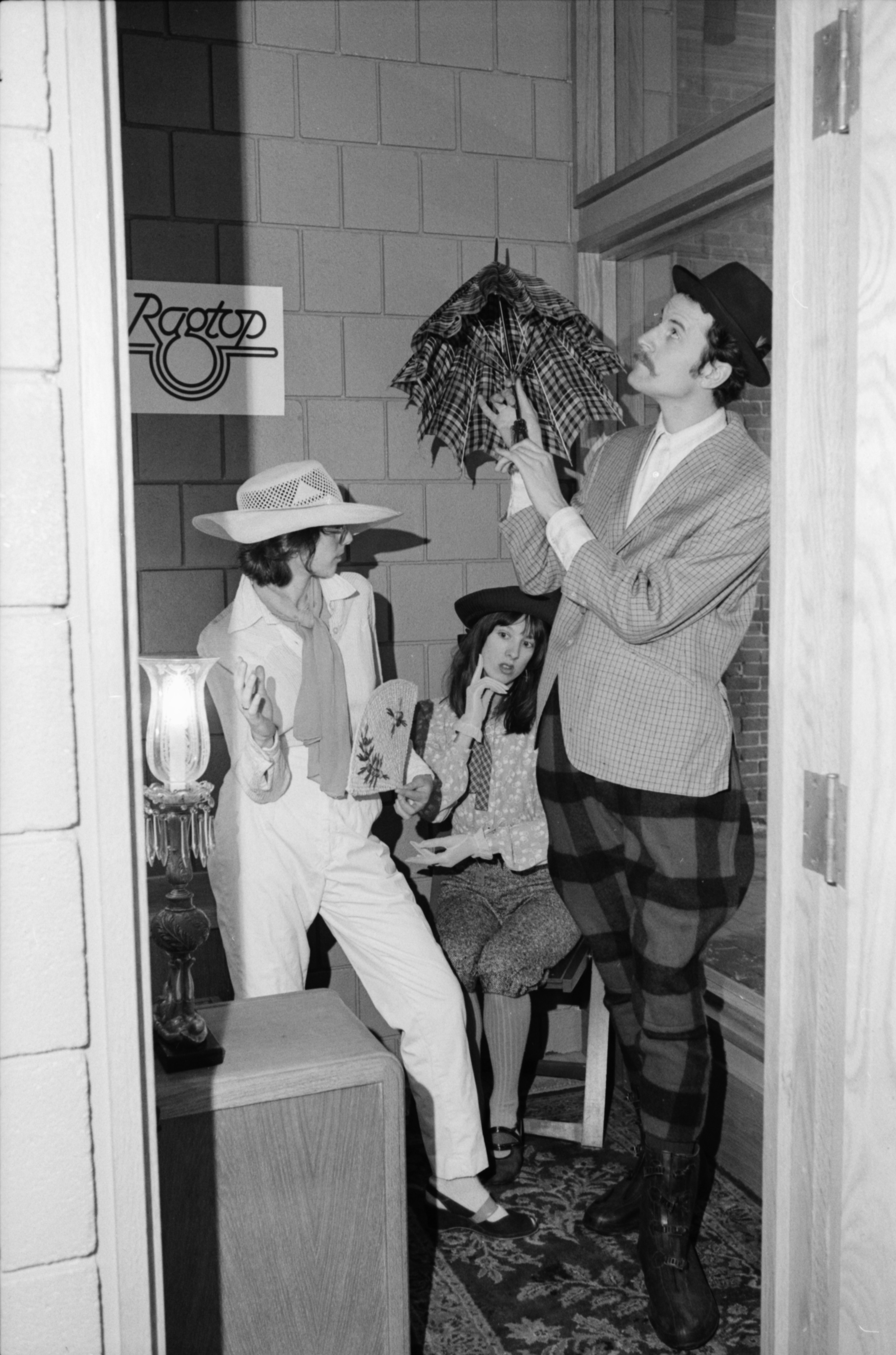 Storefront Modeling at Ragtop Clothing Store, January 1978 image