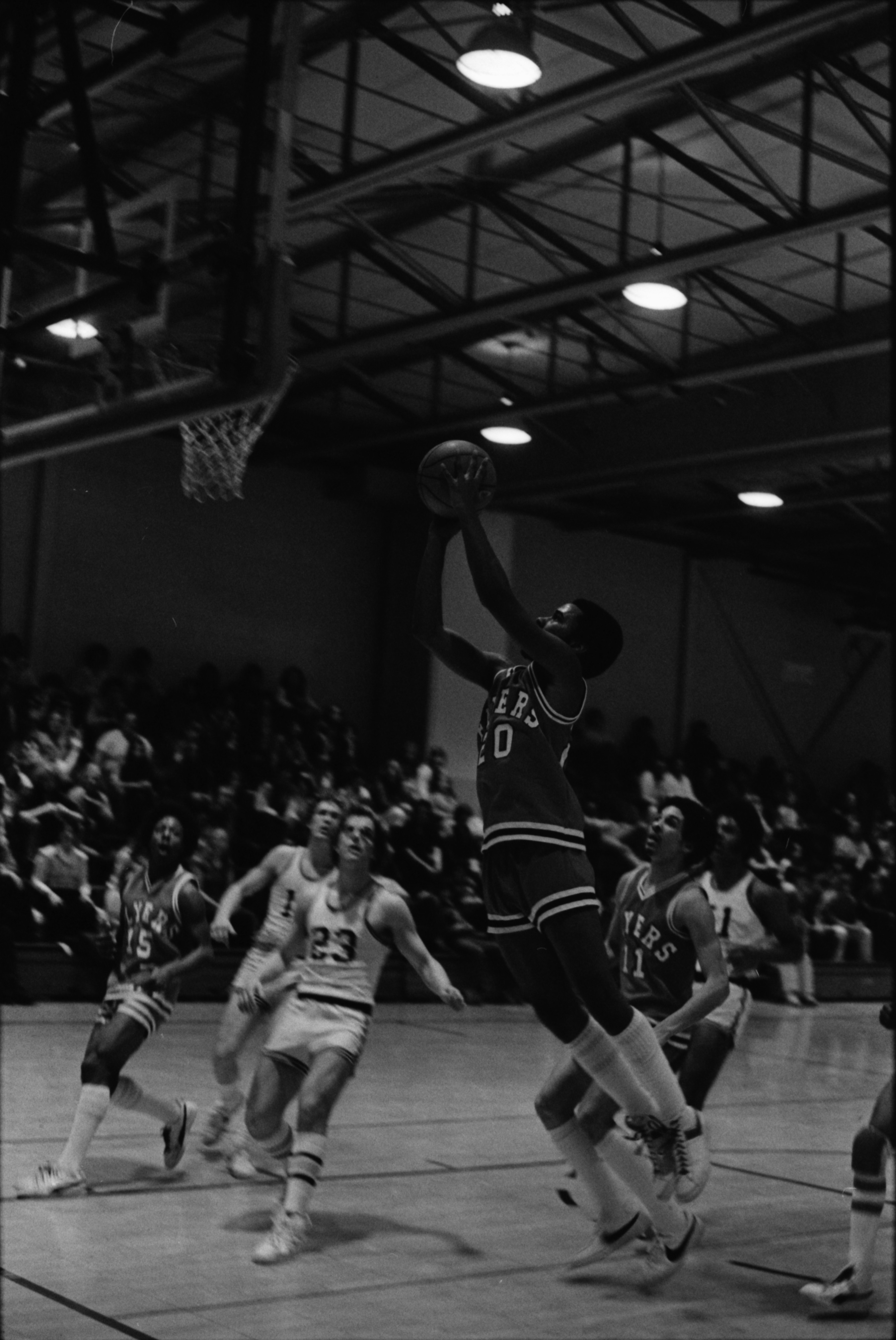 Willow Run High School Flyers Shoot Down South Lyon, March 1978 image