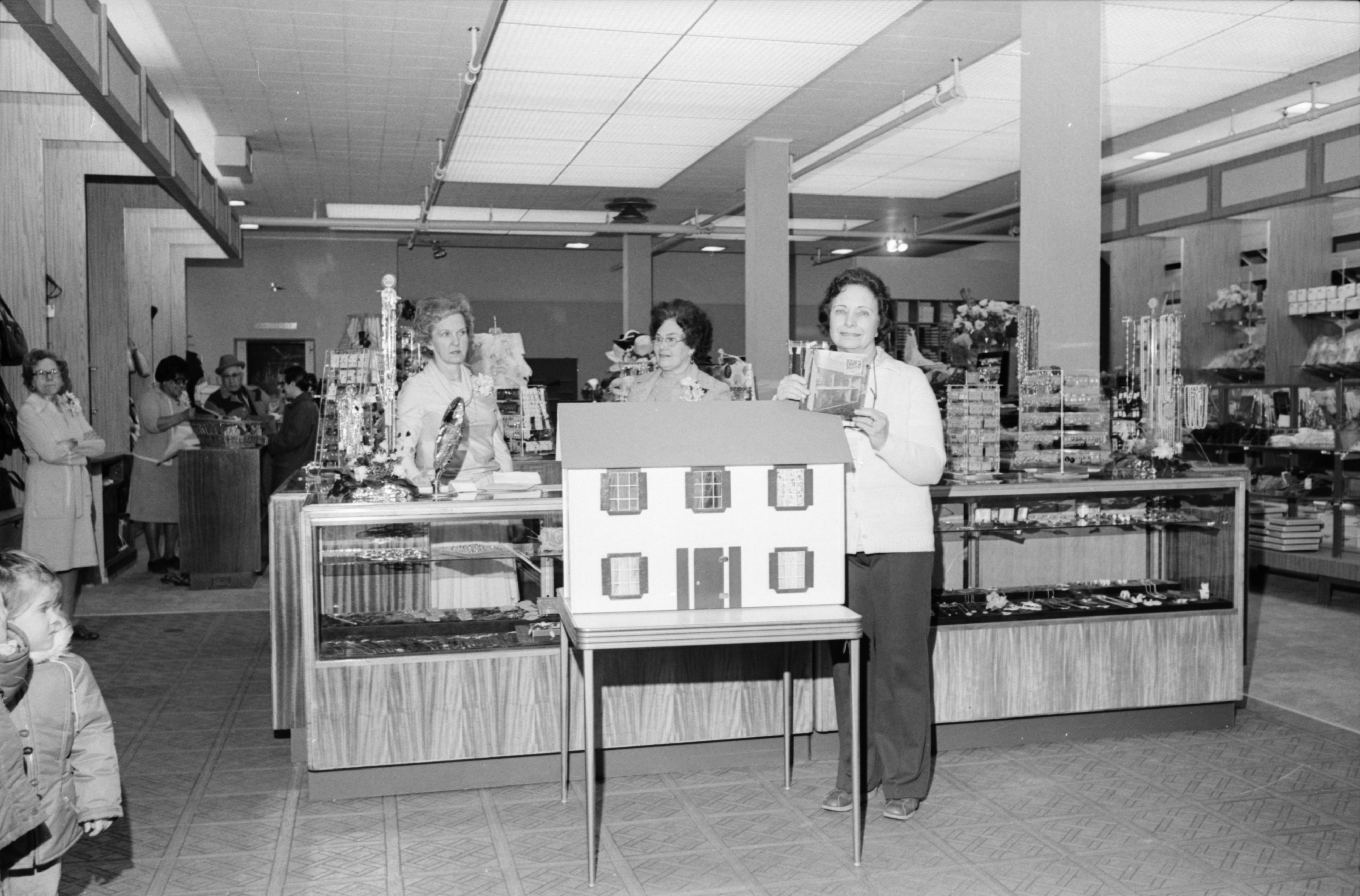 Goodyear's Department Store Remodeling Open House Includes A Doll House, March 1978 image