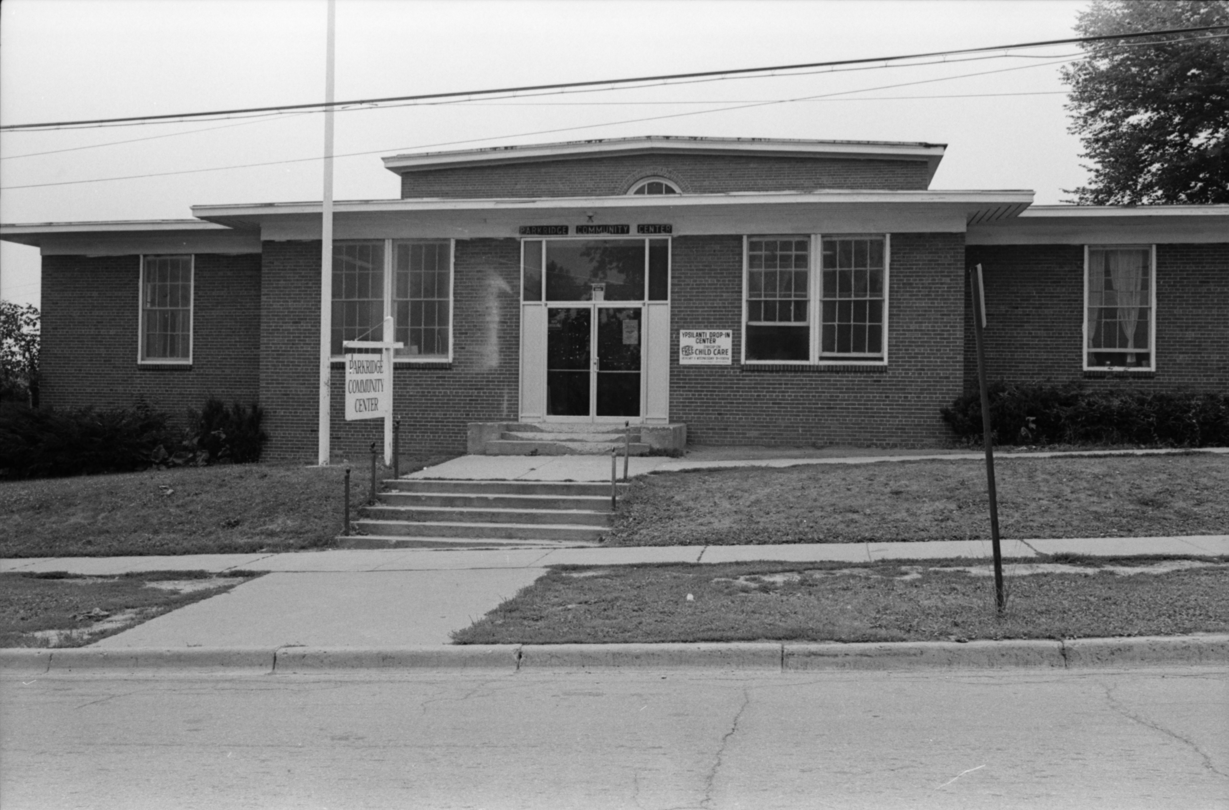 Front View of Parkridge Community Center, July 1978 image
