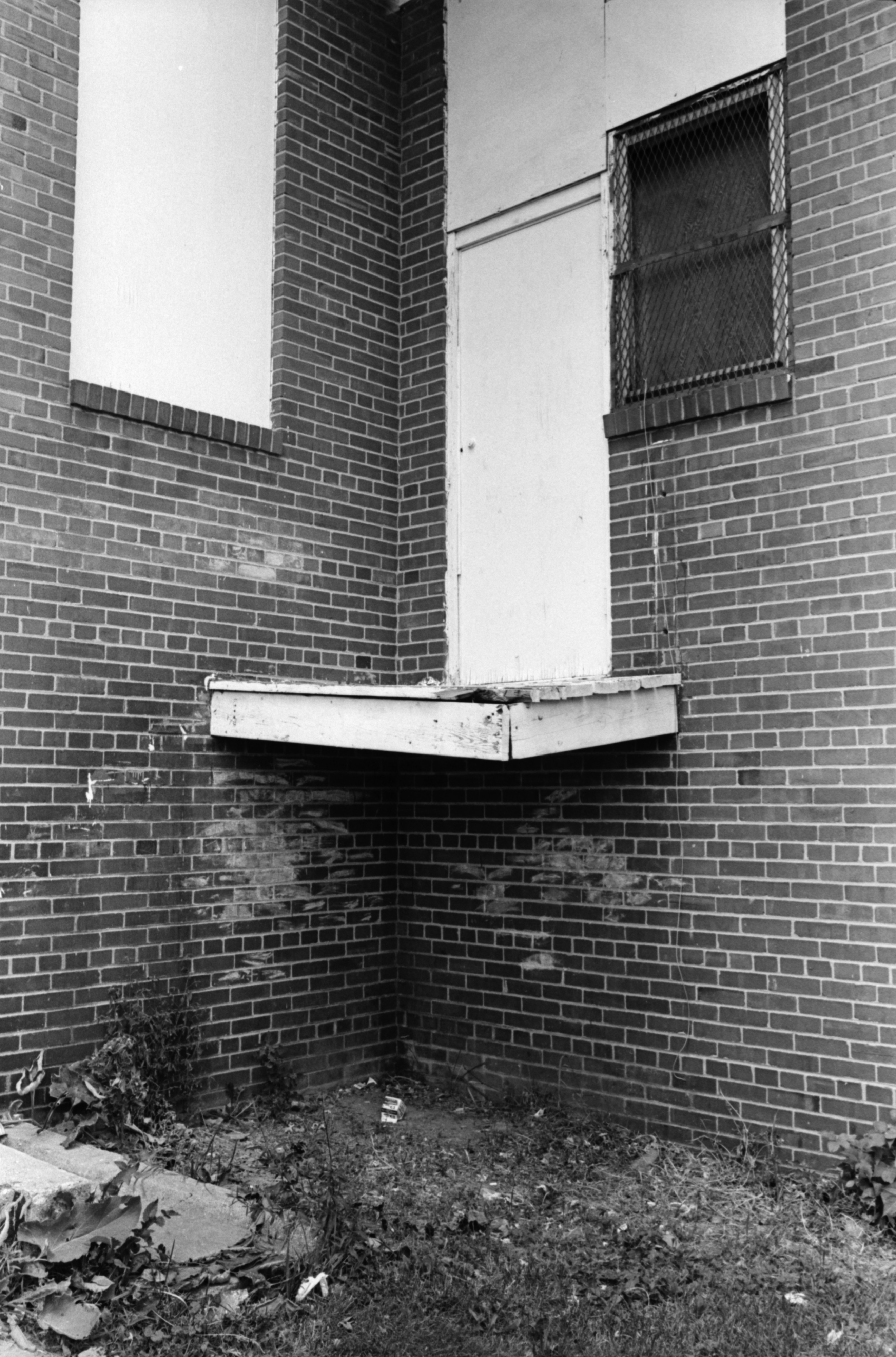 Fall Out Door Poses Safety Hazard at Parkridge Community Center, July 1978 image