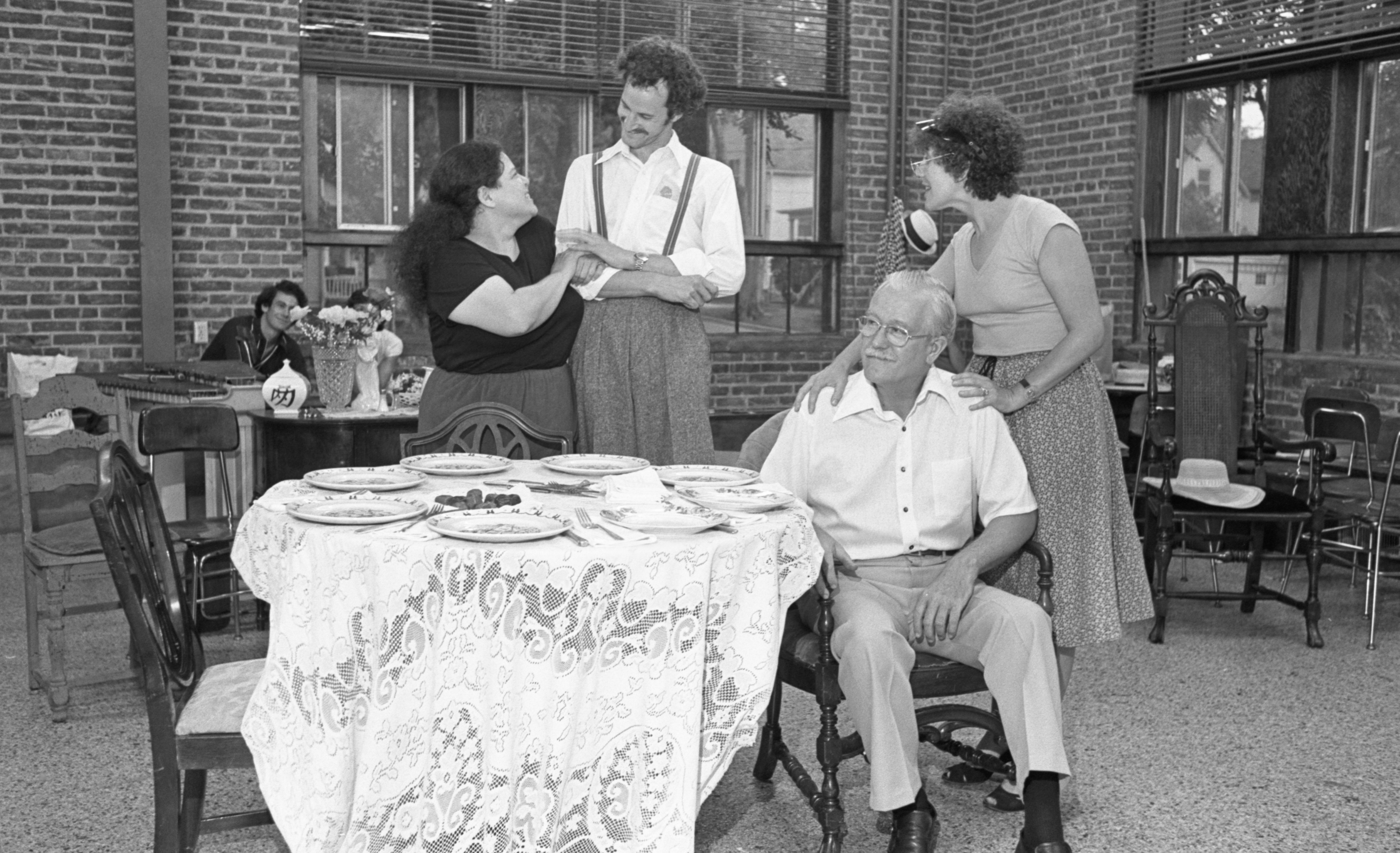 "Rehearsal For Ann Arbor Civic Theatre's ""You Can't Take It With You"", September 1978 image"
