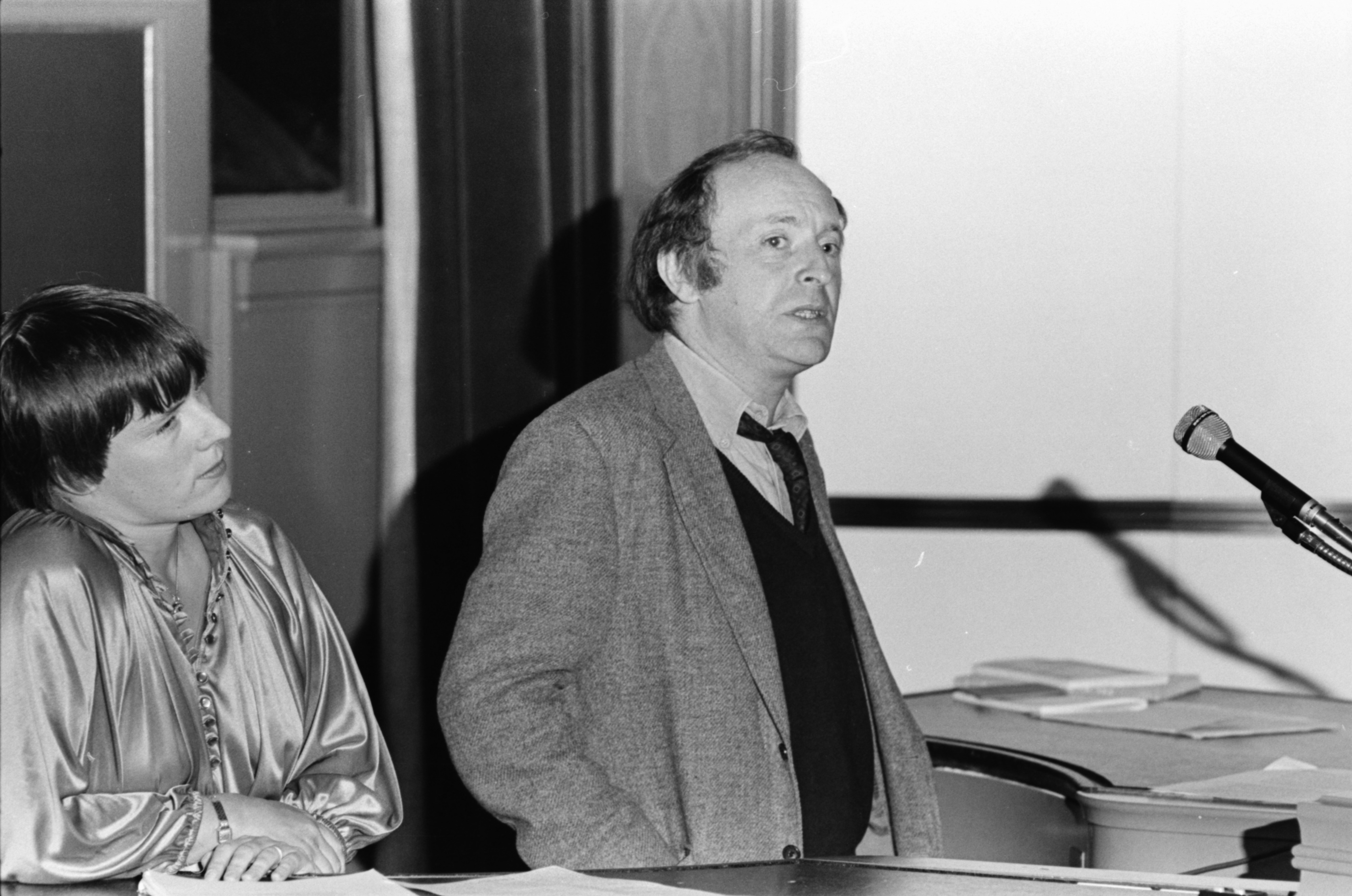 Josef Brodsky, with translator Lyn Coffin, March 1979 image