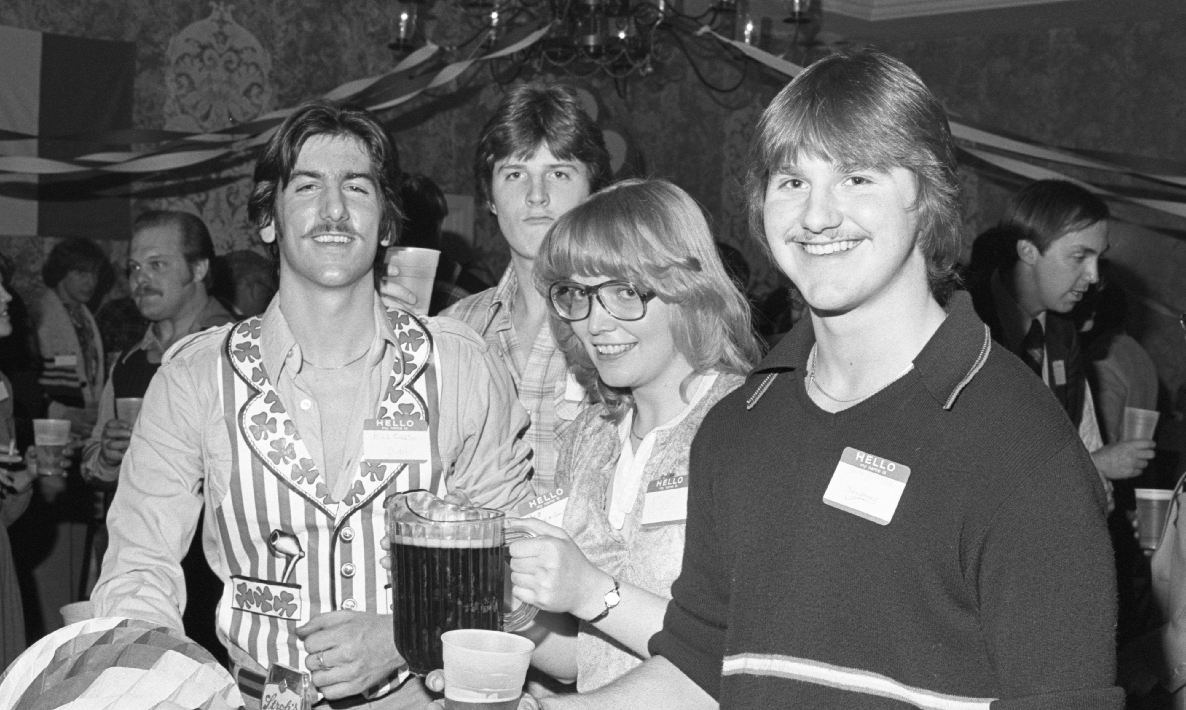 St. Patrick's Day Party At The Ann Arbor Inn, March 1979 image