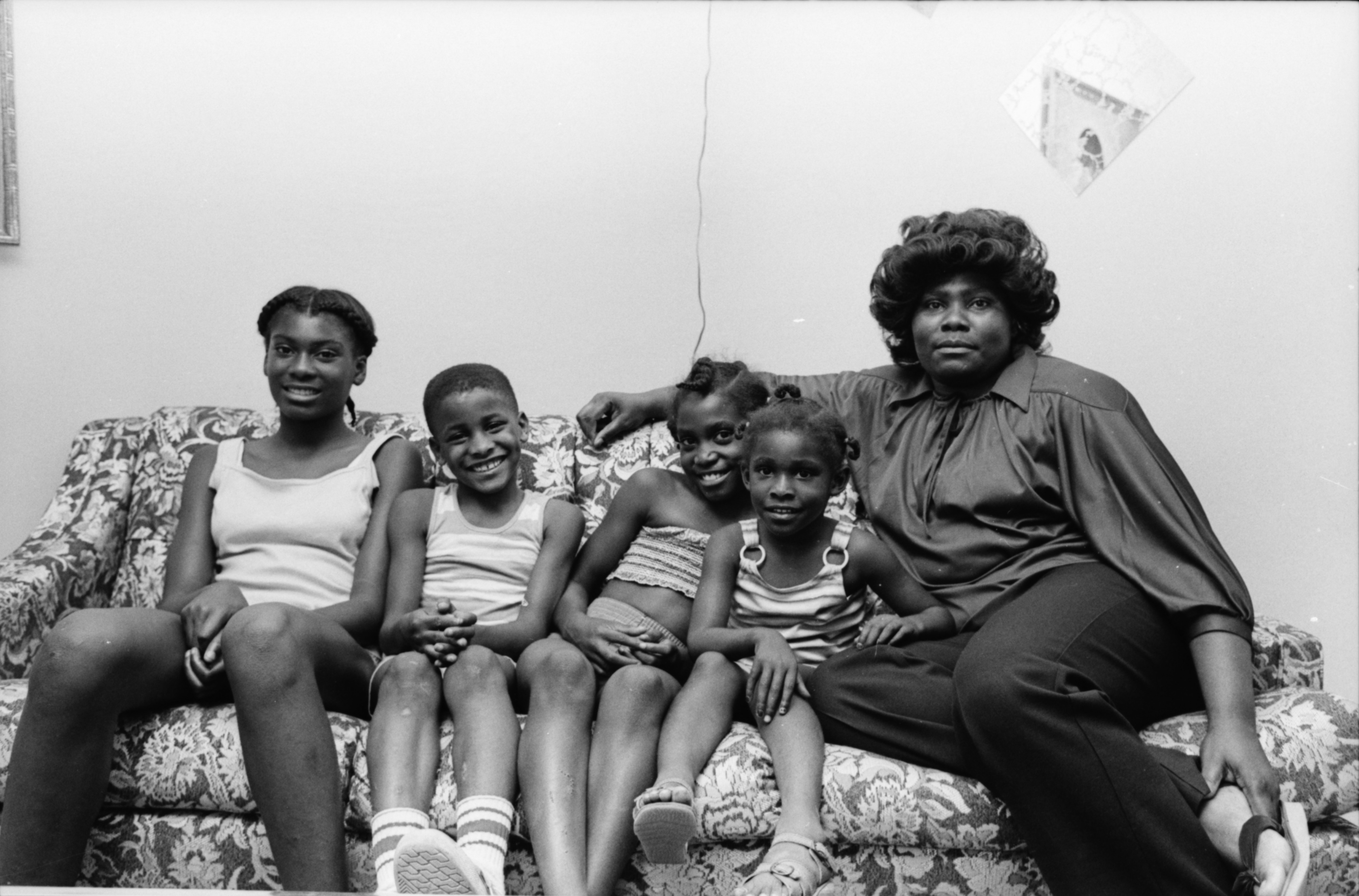 Betty Davis and her Family, July 1979 image