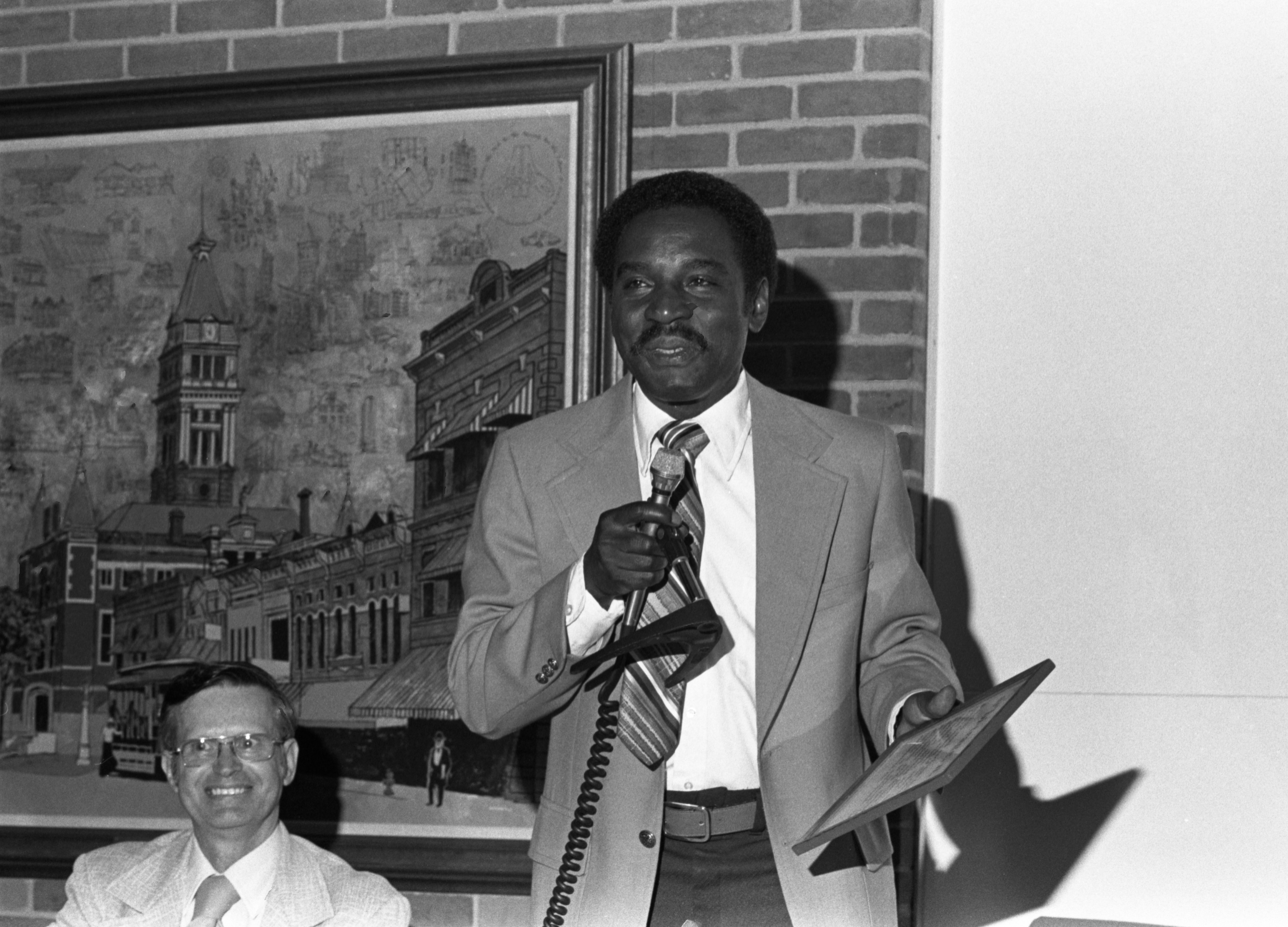 Ann Arbor Press Honor Sylvester Murray With Gifts Prior To His Last City Council Meeting, September 5, 1979 image