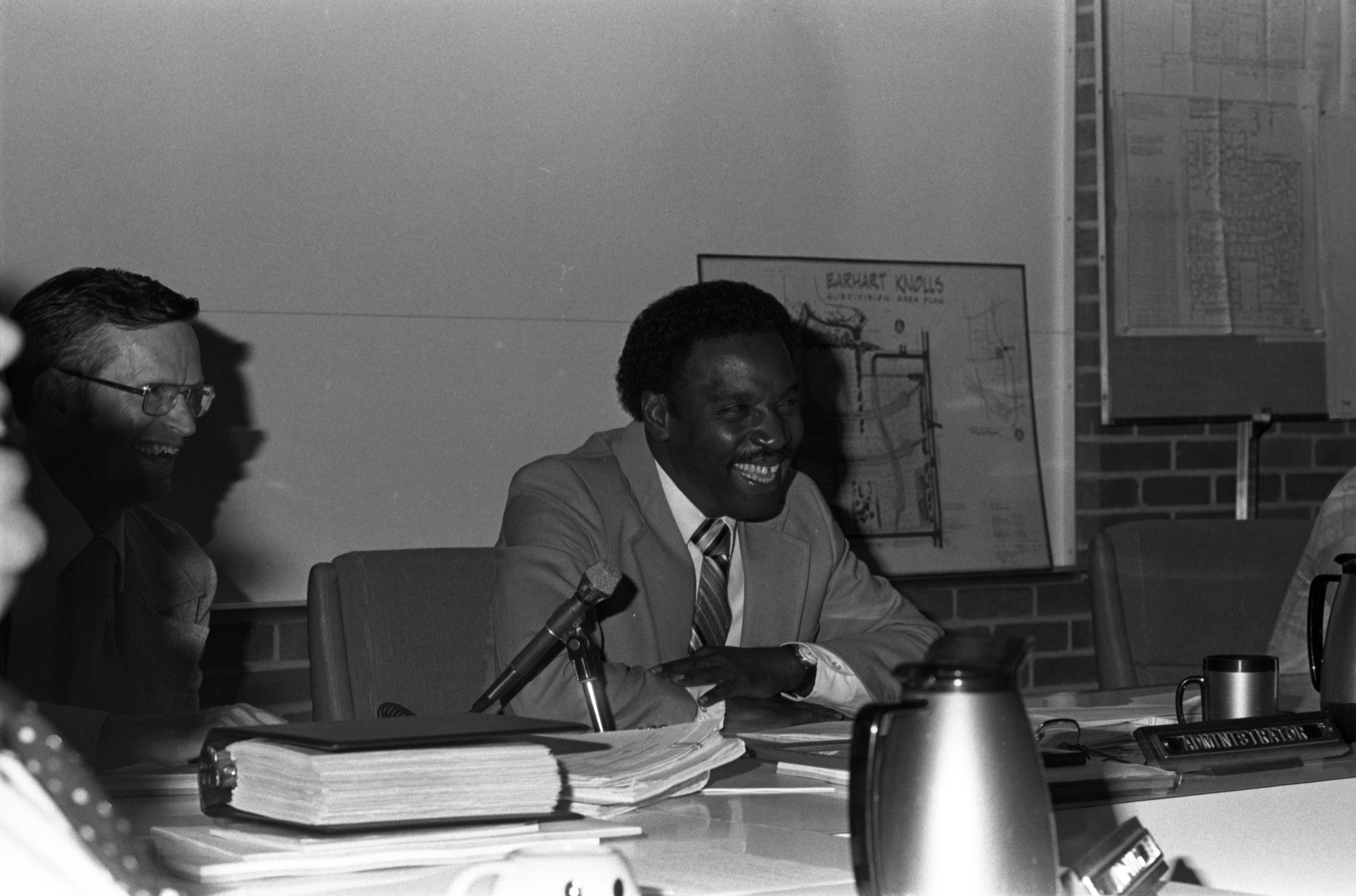 Ann Arbor Press Honor Sylvester Murray Prior To His Last City Council Meeting, September 5, 1979 image