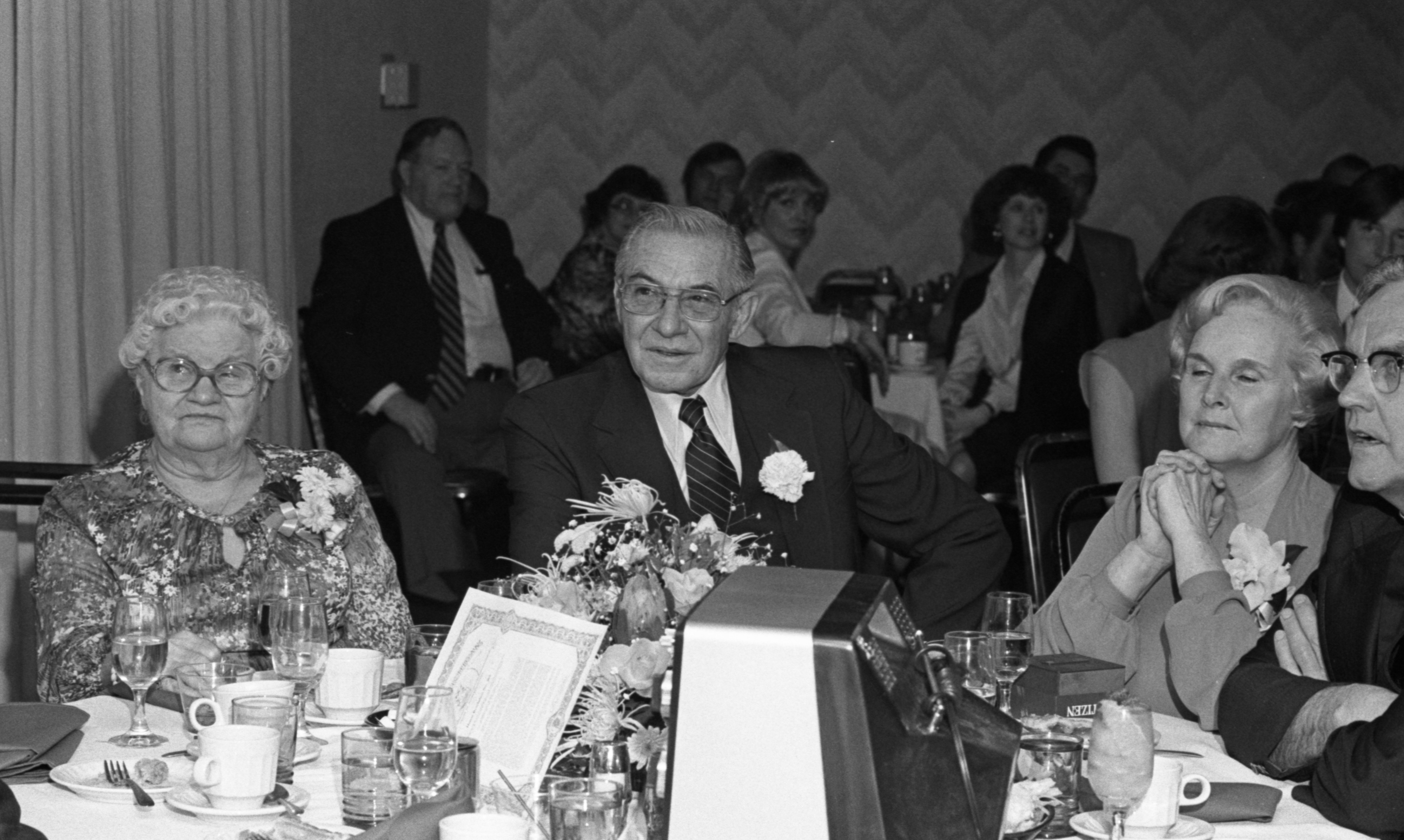 Retiring Ann Arbor Police Chief Walter E. Krasny Honored at Dinner, March 1980 image