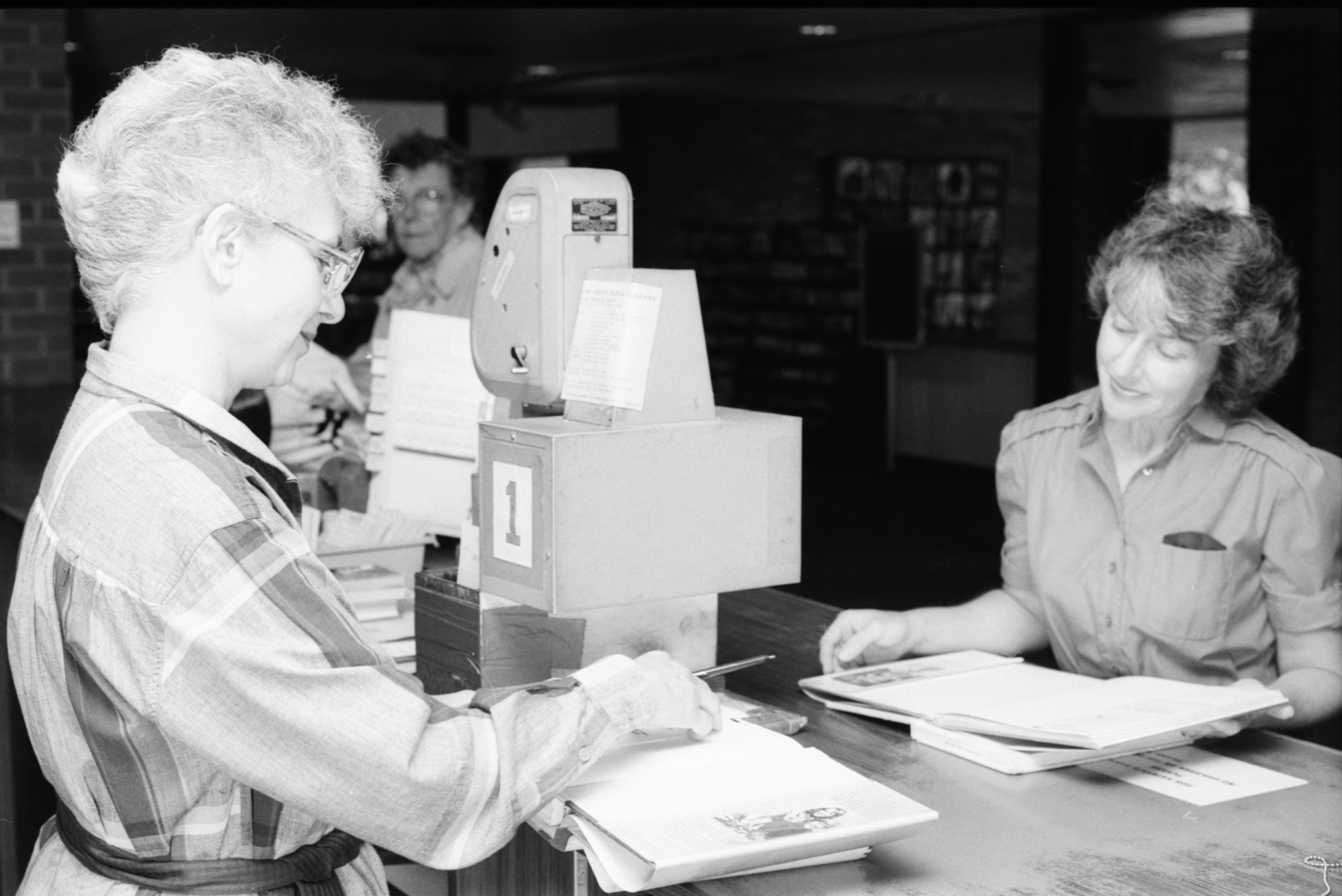 New Computerized Circulation System Coming To Ann Arbor Public Library, July 1984 image