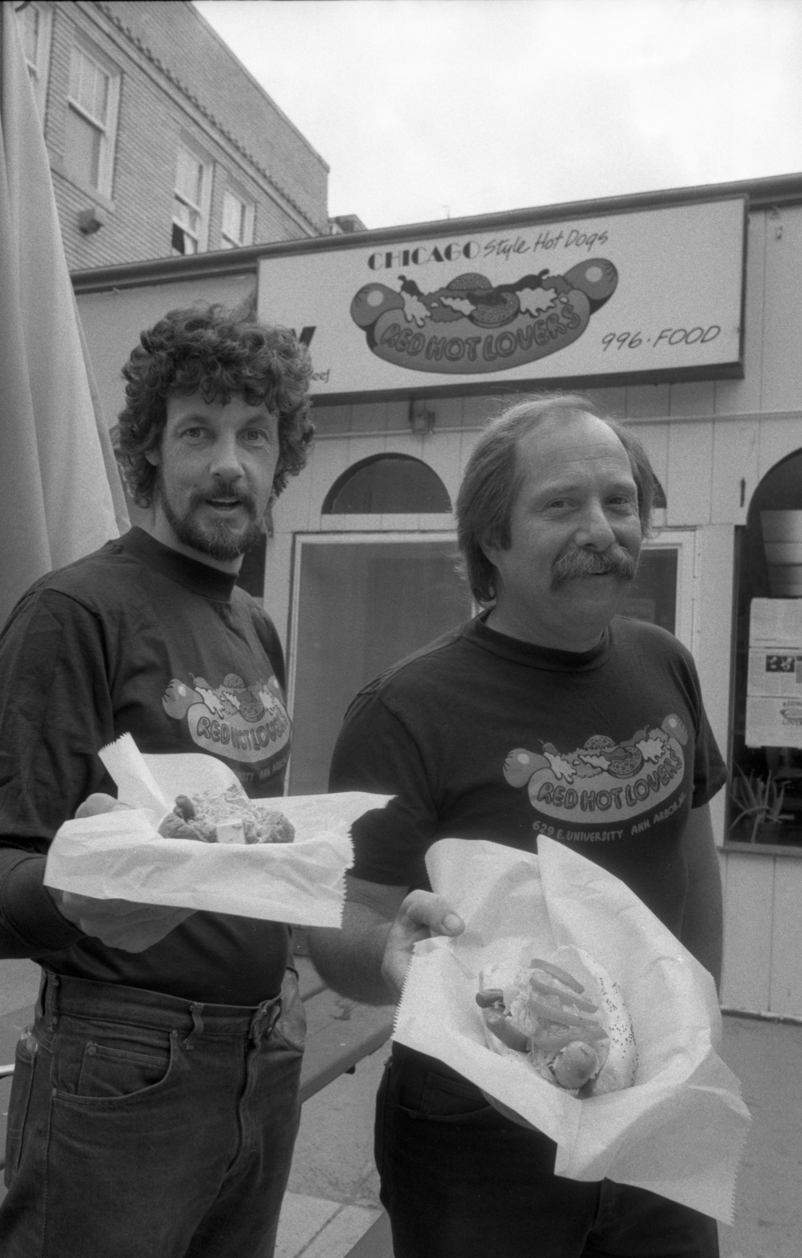 Tom Blackburn & Alan Cantor Owners Of Red Hot Lovers Restaurant, September 5, 1985 image