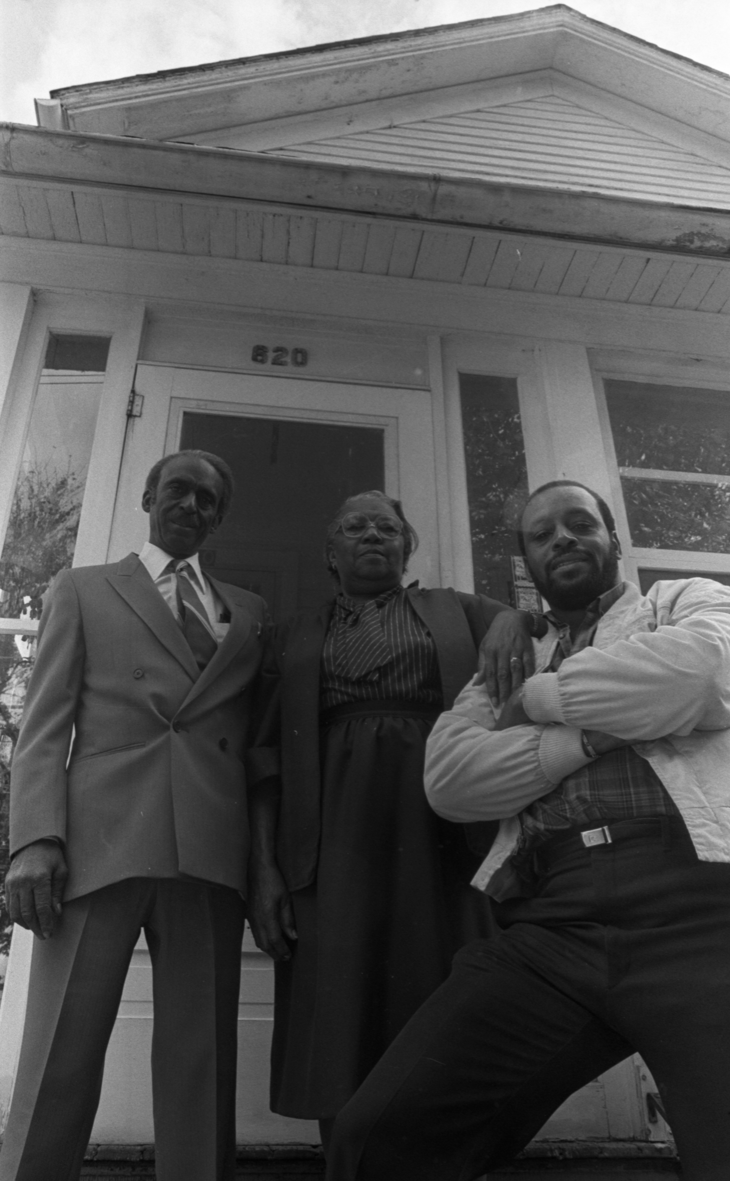 William, Minnie, and their son, Steven Dixon at their home on Fourth Avenue, October 1986 image