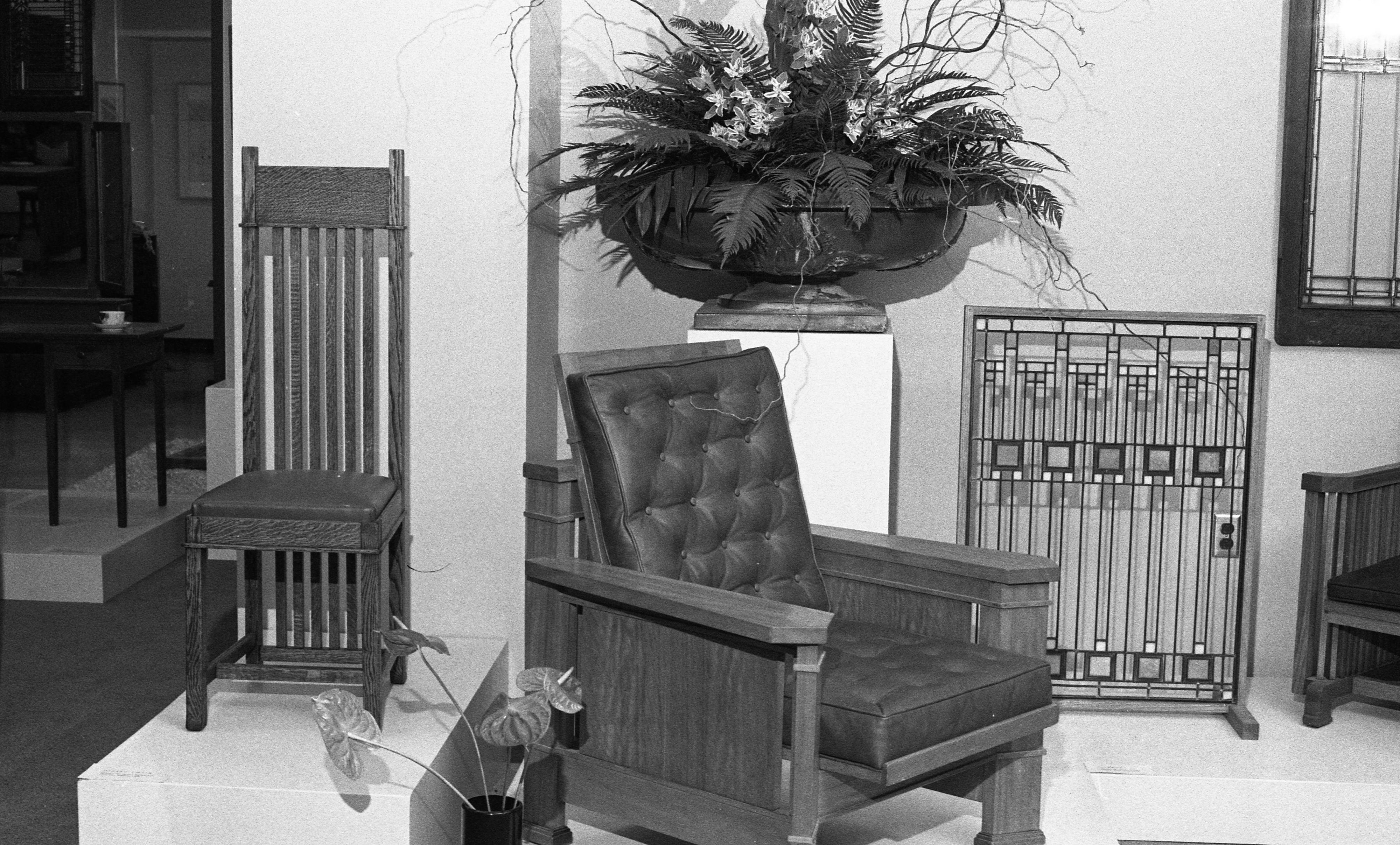 Chairs Designed By Frank Lloyd Wright Studio, May 1987 image