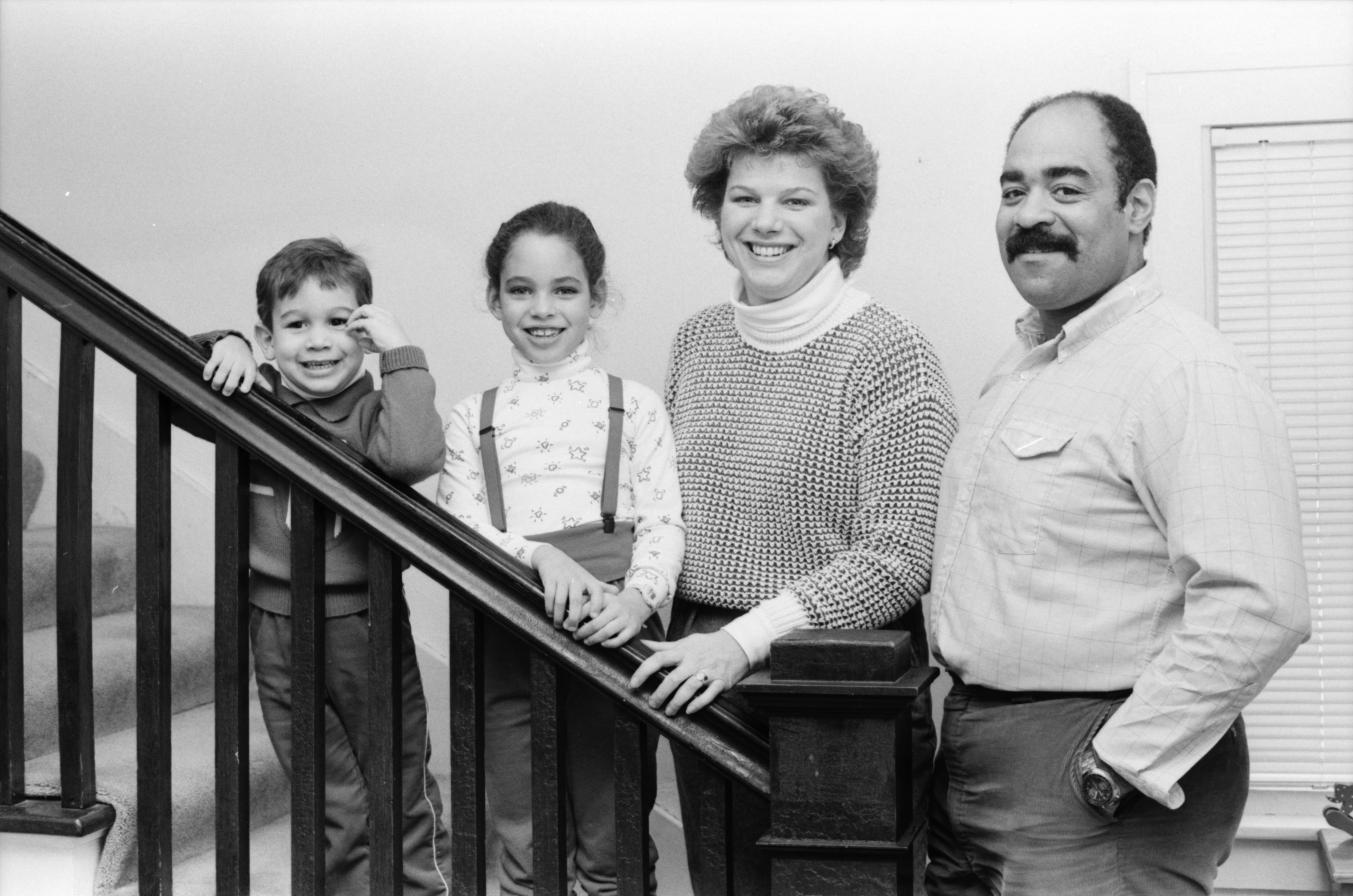 Portrait of Richard and Katie Blake with their Two Children, February 1988 image