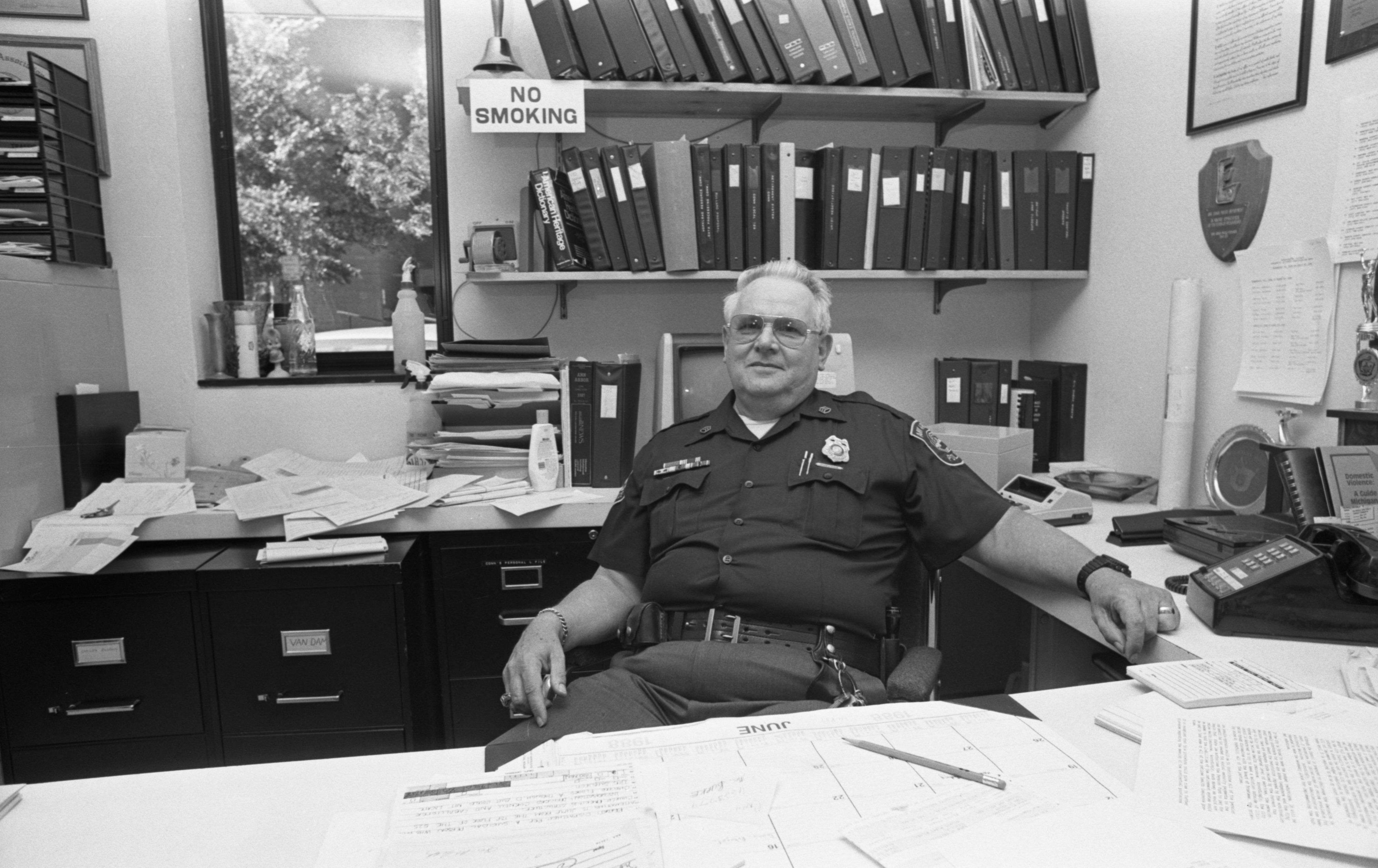 Ann Arbor Police Staff Sgt. Art Hughes Retiring After Three Decades, June 1988 image