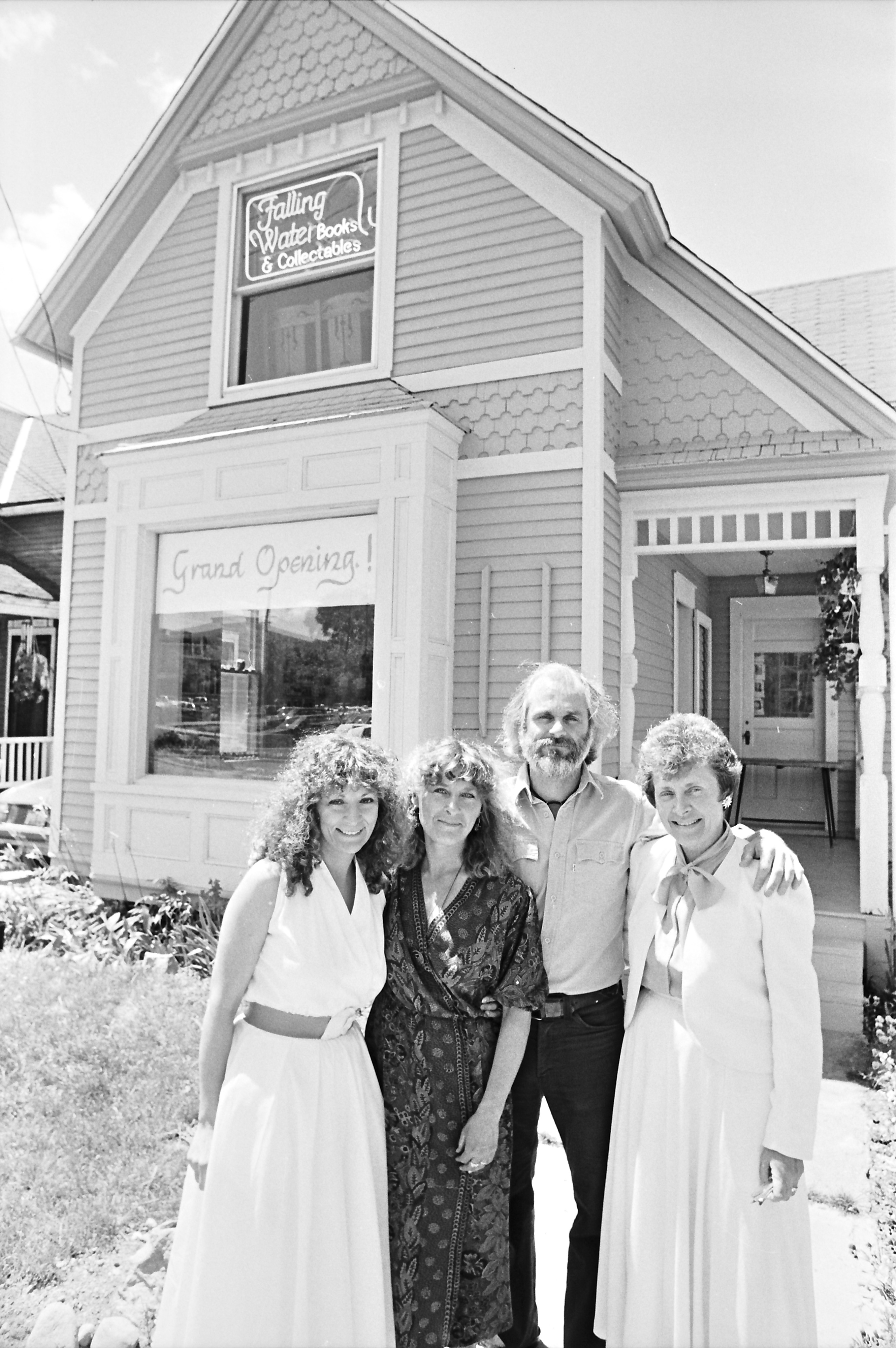 Owners in front of Falling Water Books & Collectibles, Ann Arbor, July 1988 image