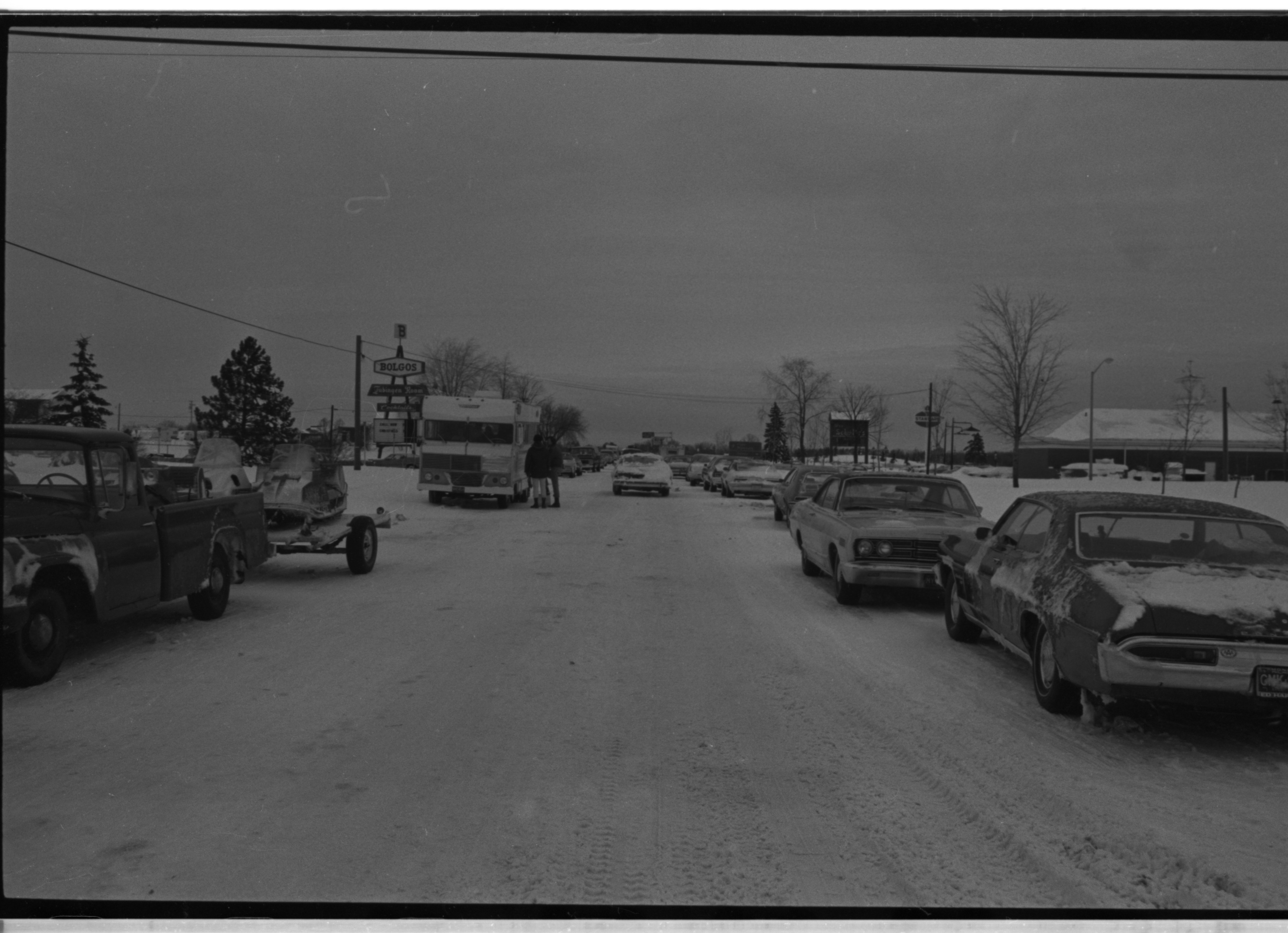 Line-Up Of Stranded Vehicles Following Record Snowfall, December 1974 image