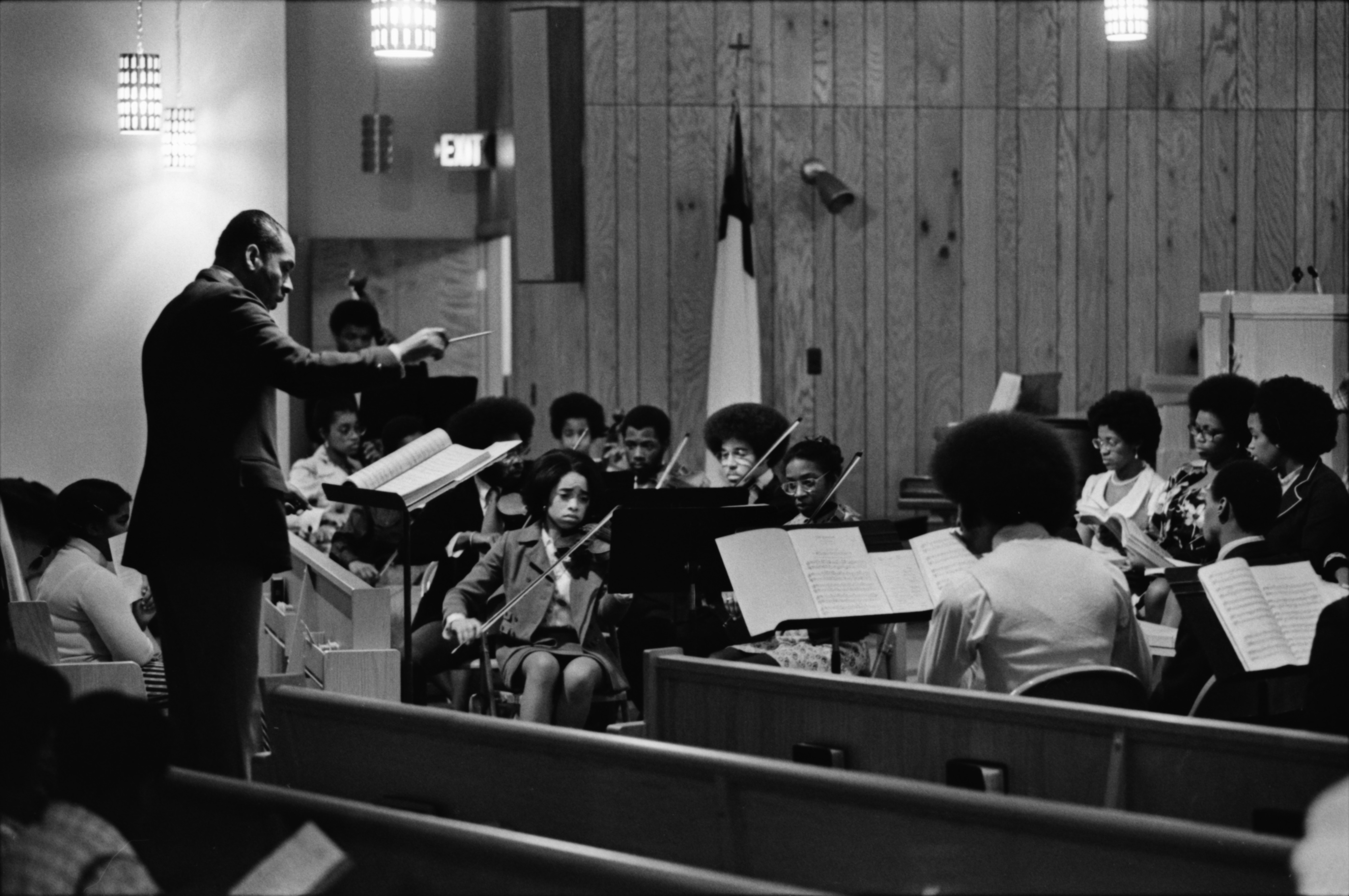 Community Chorale and Orchestra Performs at Bethel AME Church, December 1974 image