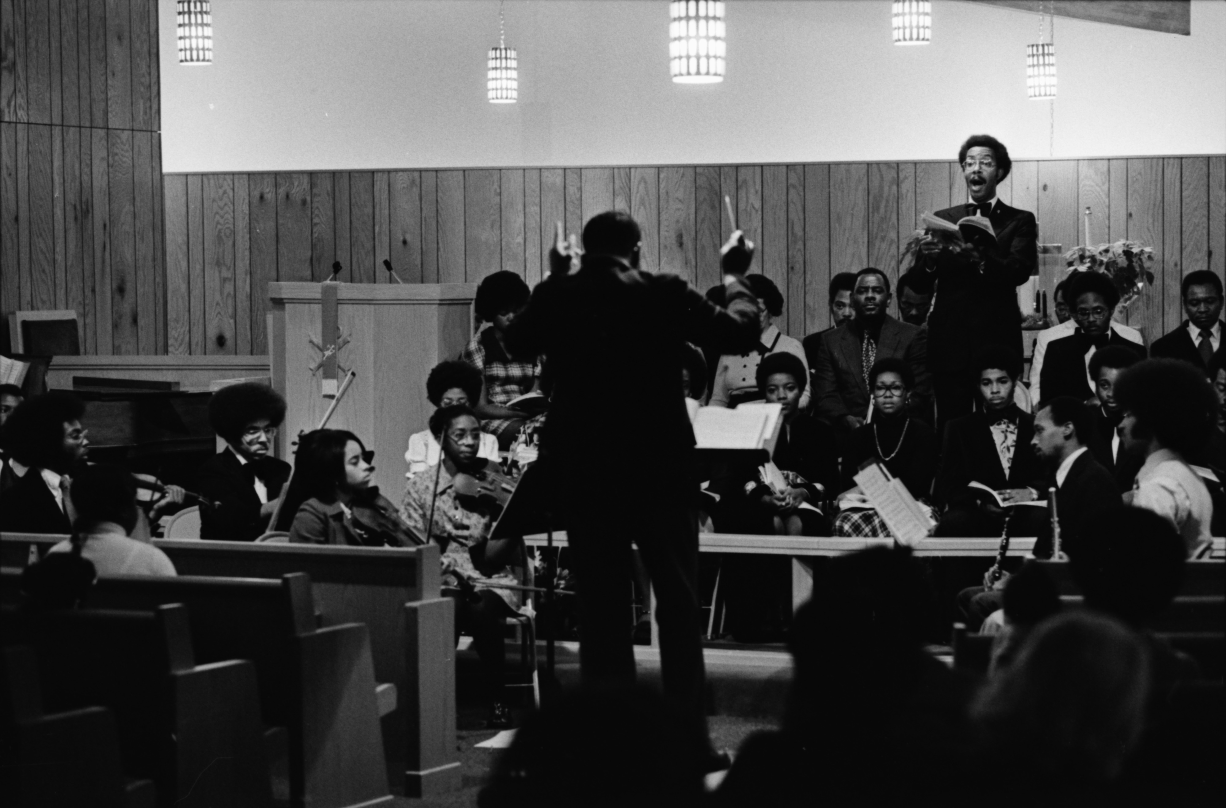 Willis Patterson's Community Chorale and Orchestra Debuts at Bethel AME Church, December 1974 image