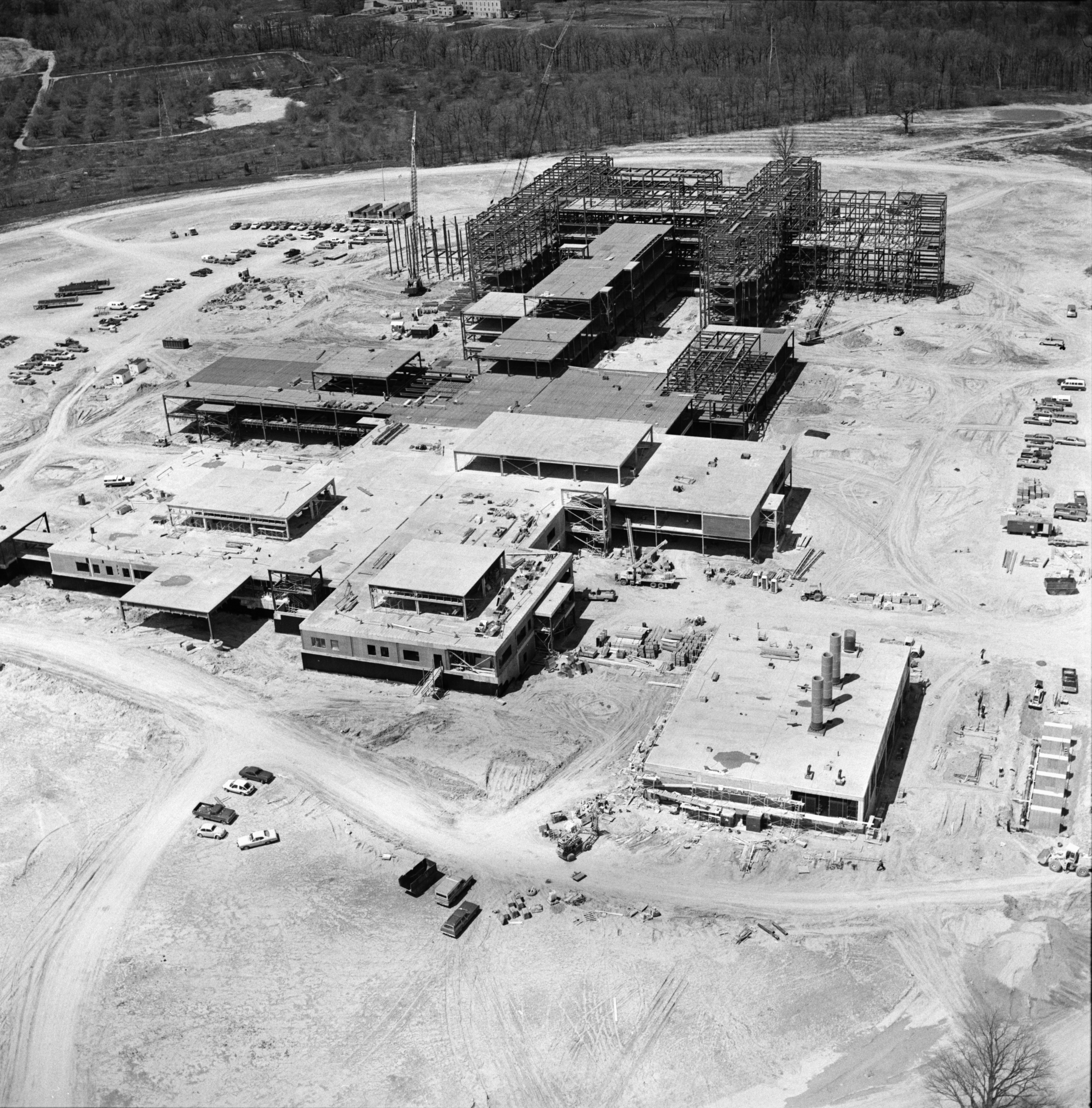 Aerial Photograph of St. Joseph Mercy Hospital, May 1975 image