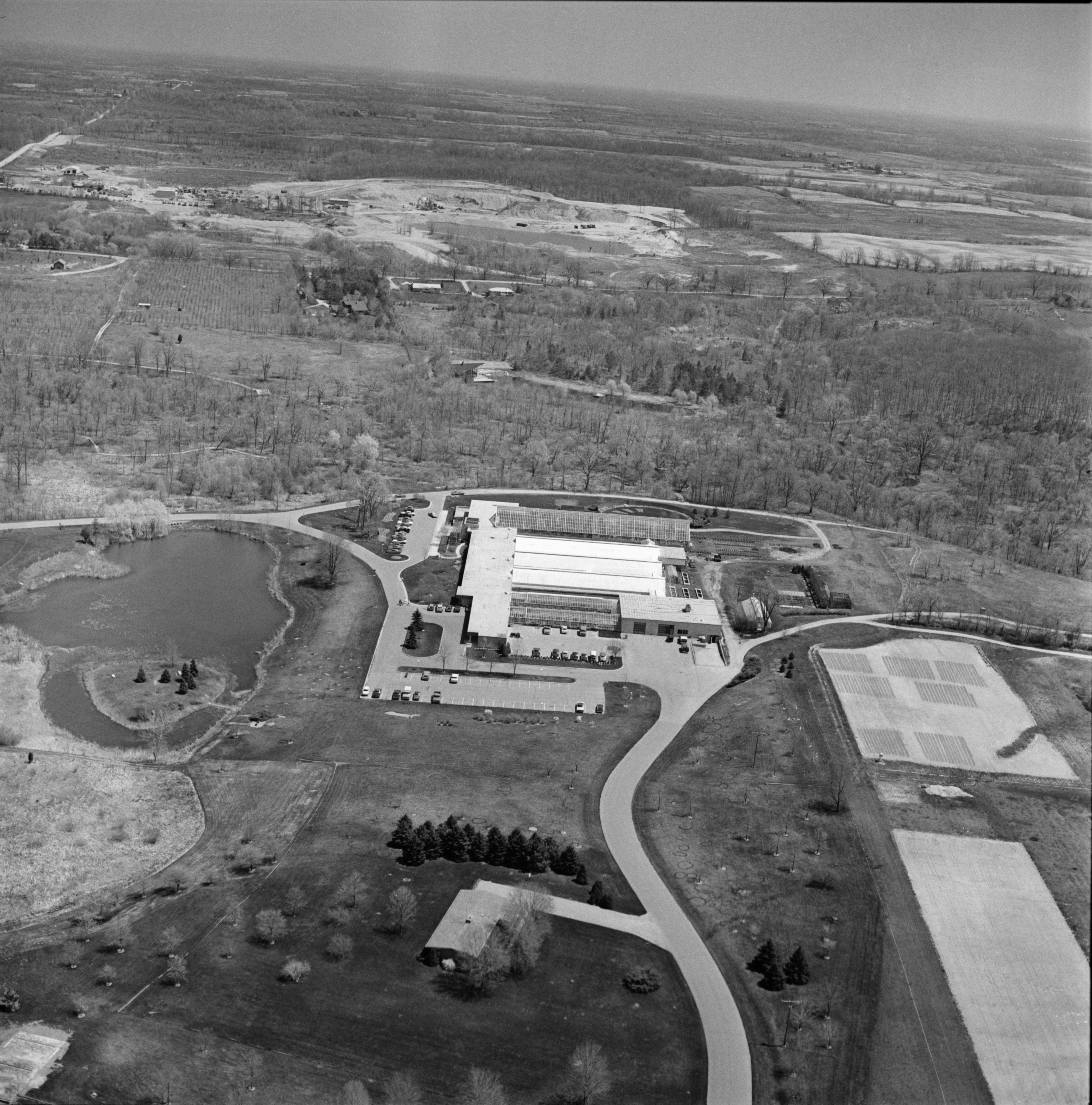 Aerial Photograph of Matthaei Botanical Gardens, May 1975 image