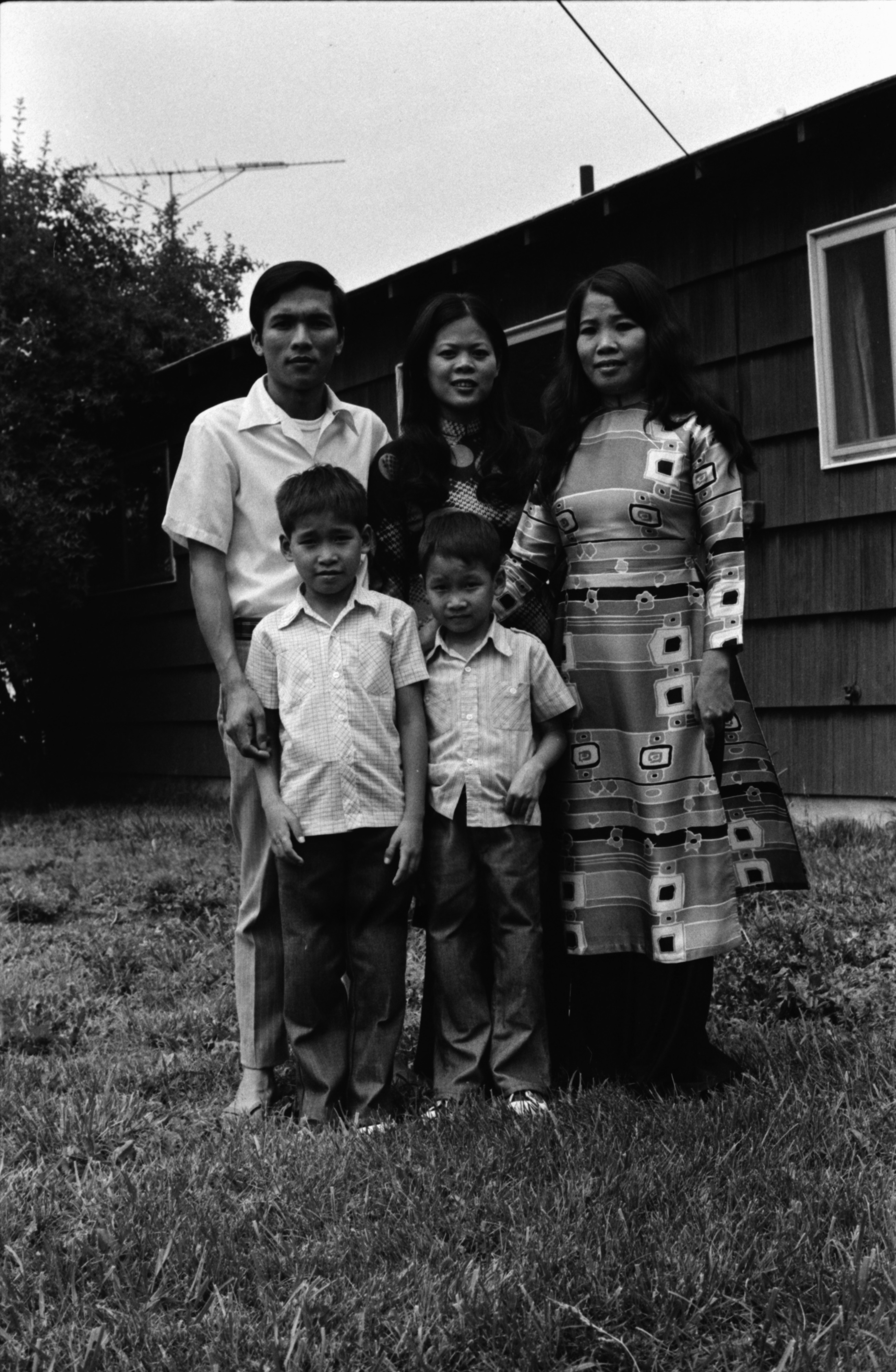 Ngam Van Tran and Family are Recent Refugees from Vietnam, June 1975 image