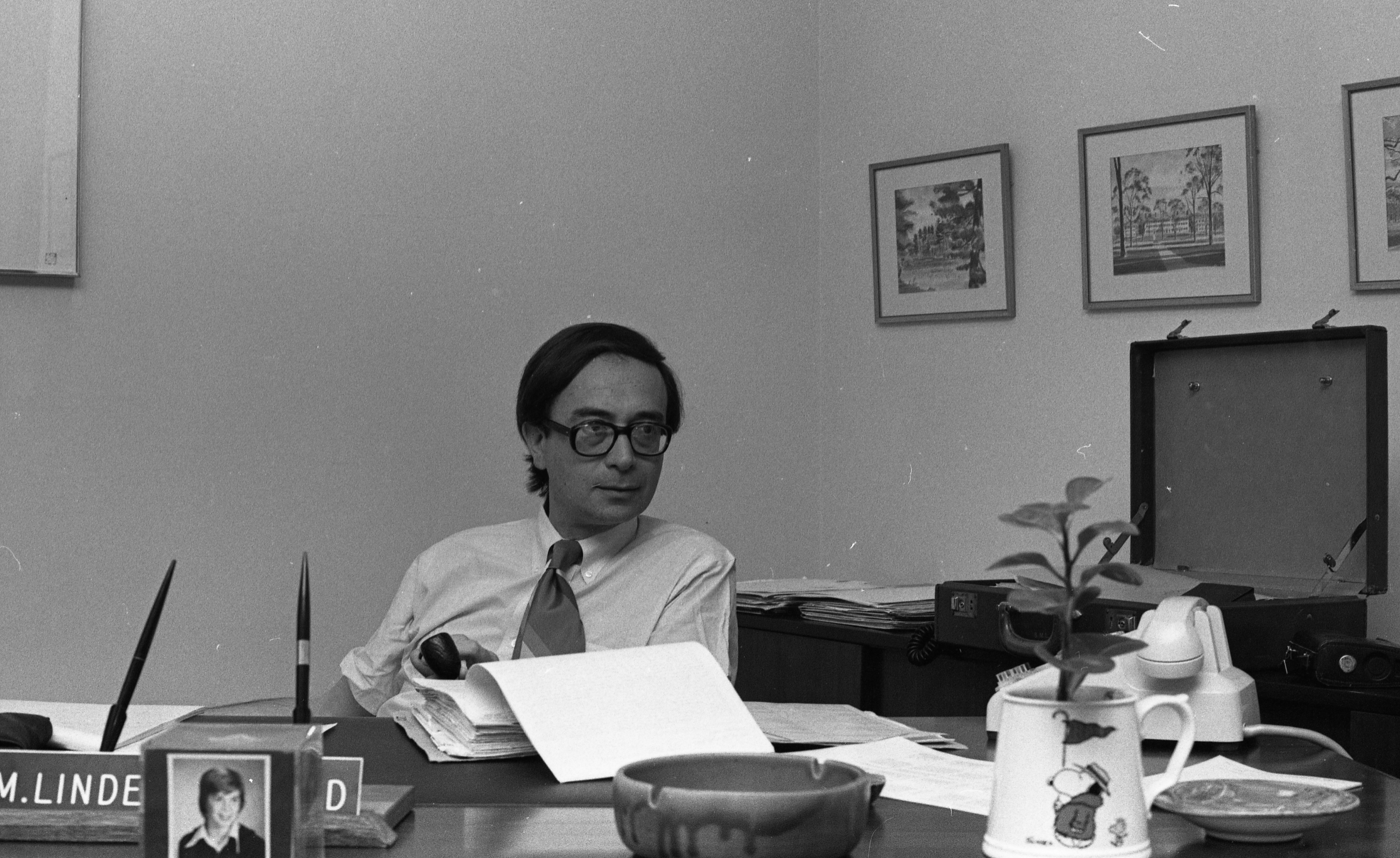 Dr. S. Martin Lindenauer, Chief Of Staff At Ann Arbor's VA Hospital Reacting To Investigation Of VA Nurses, June 1976 image