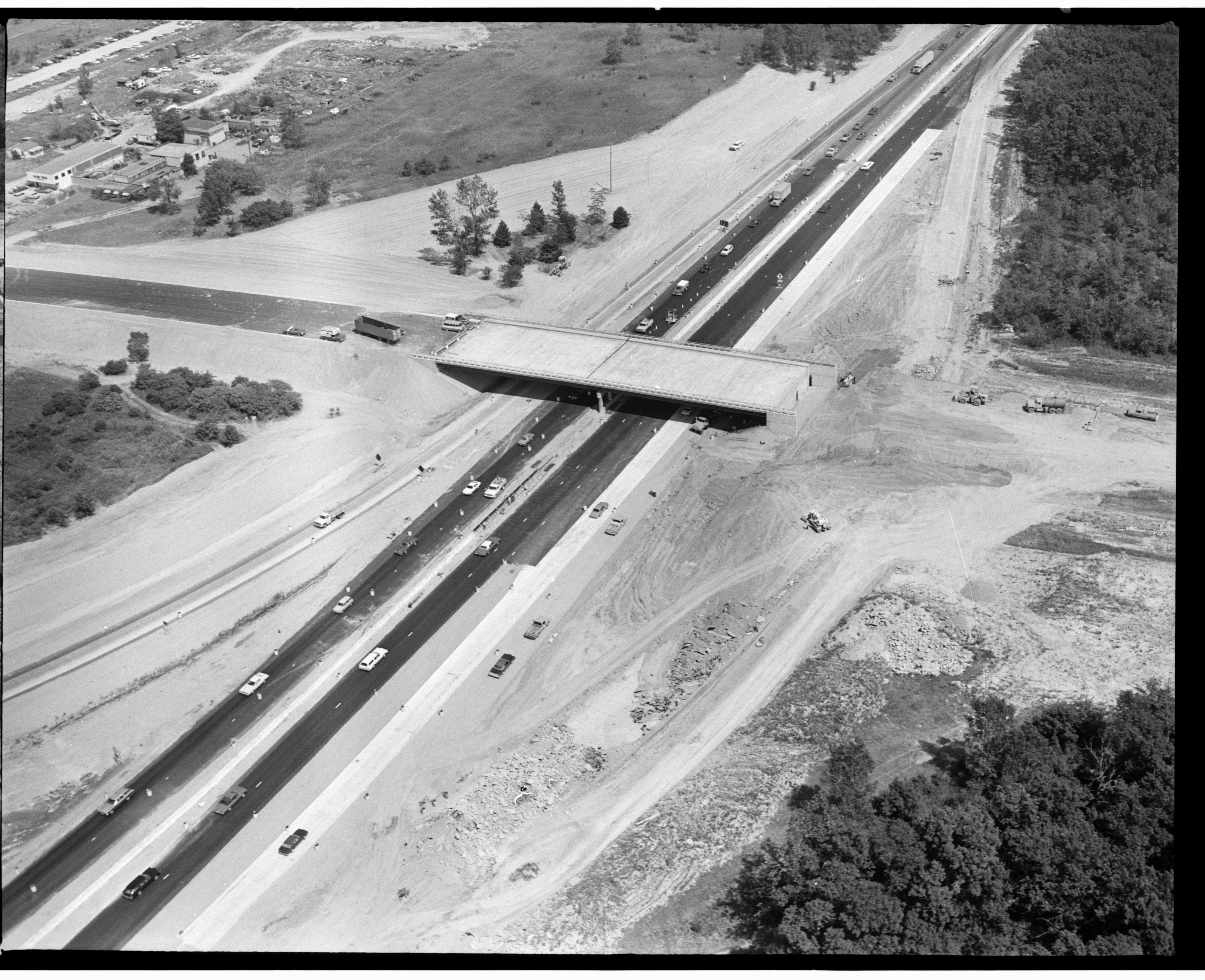 Aerial Photograph of the Carpenter Road Bridge over I-94, August 1976 image