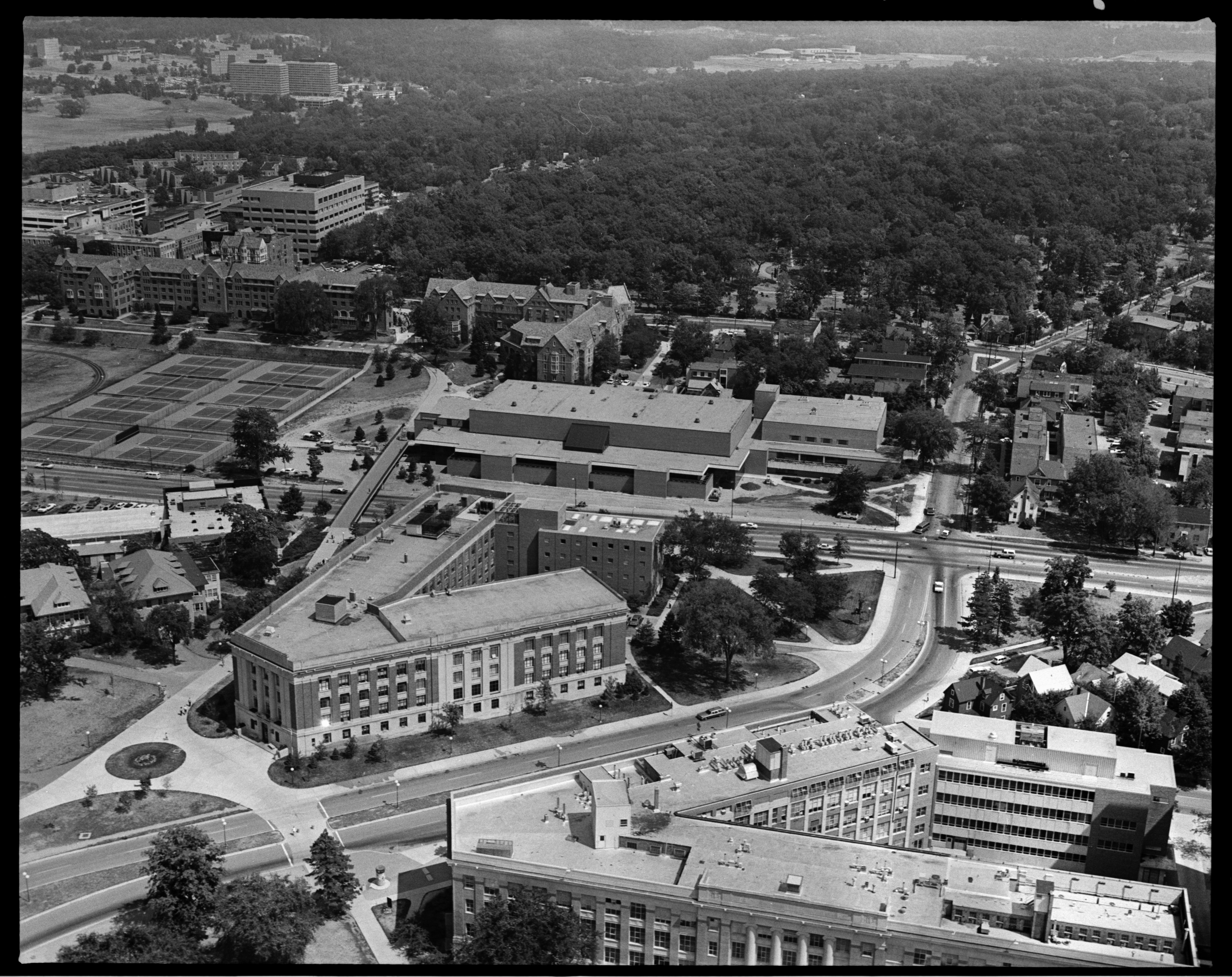 Aerial Photograph of the Central Campus Recreation Building, University of Michigan, September 1976 image