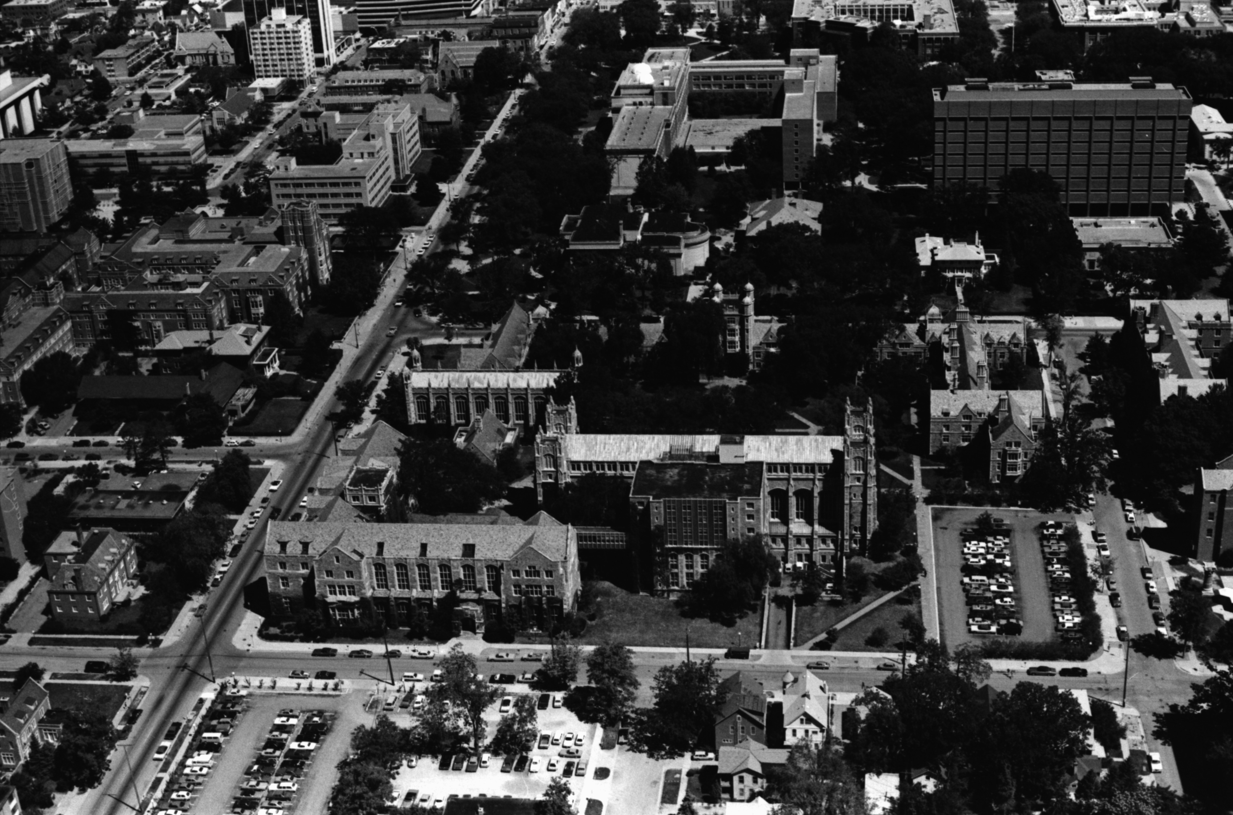 Aerial Photograph of University of Michigan Central Campus, July 1977 image
