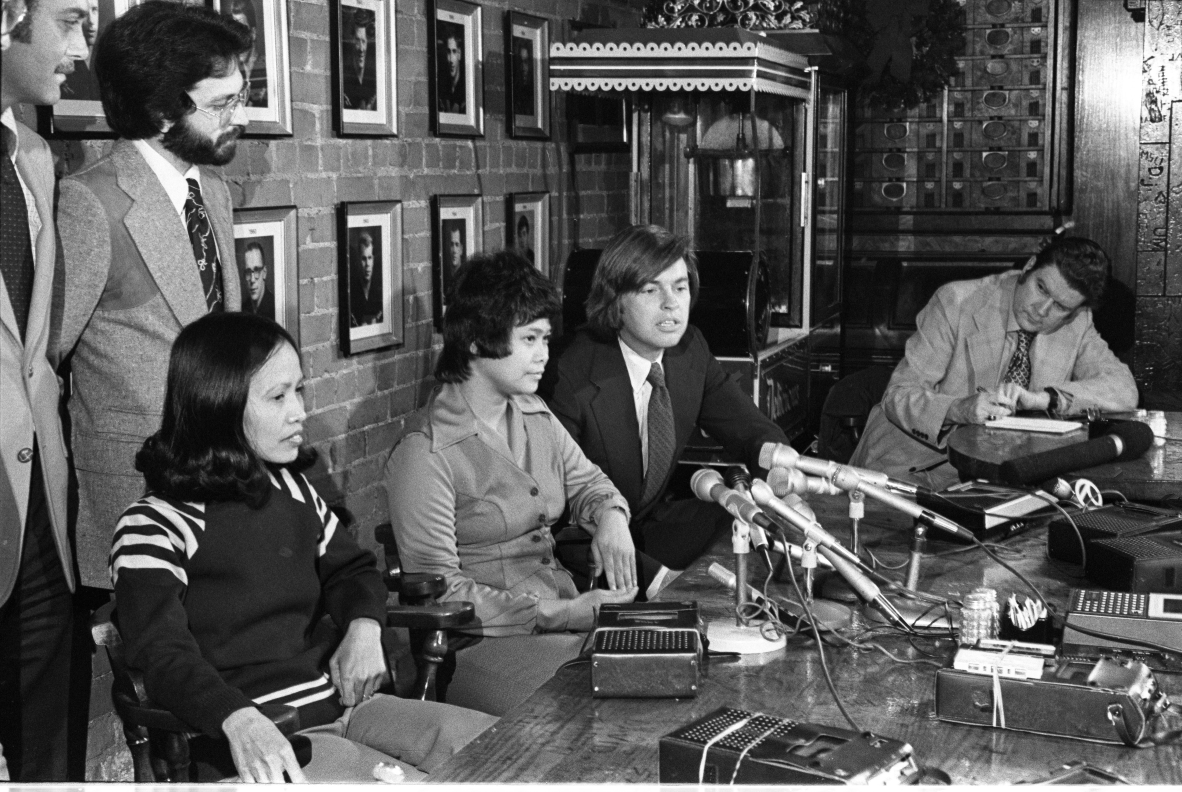 VA Hospital Nurses At Press Conference About Getting A Retrial, December 1977 image