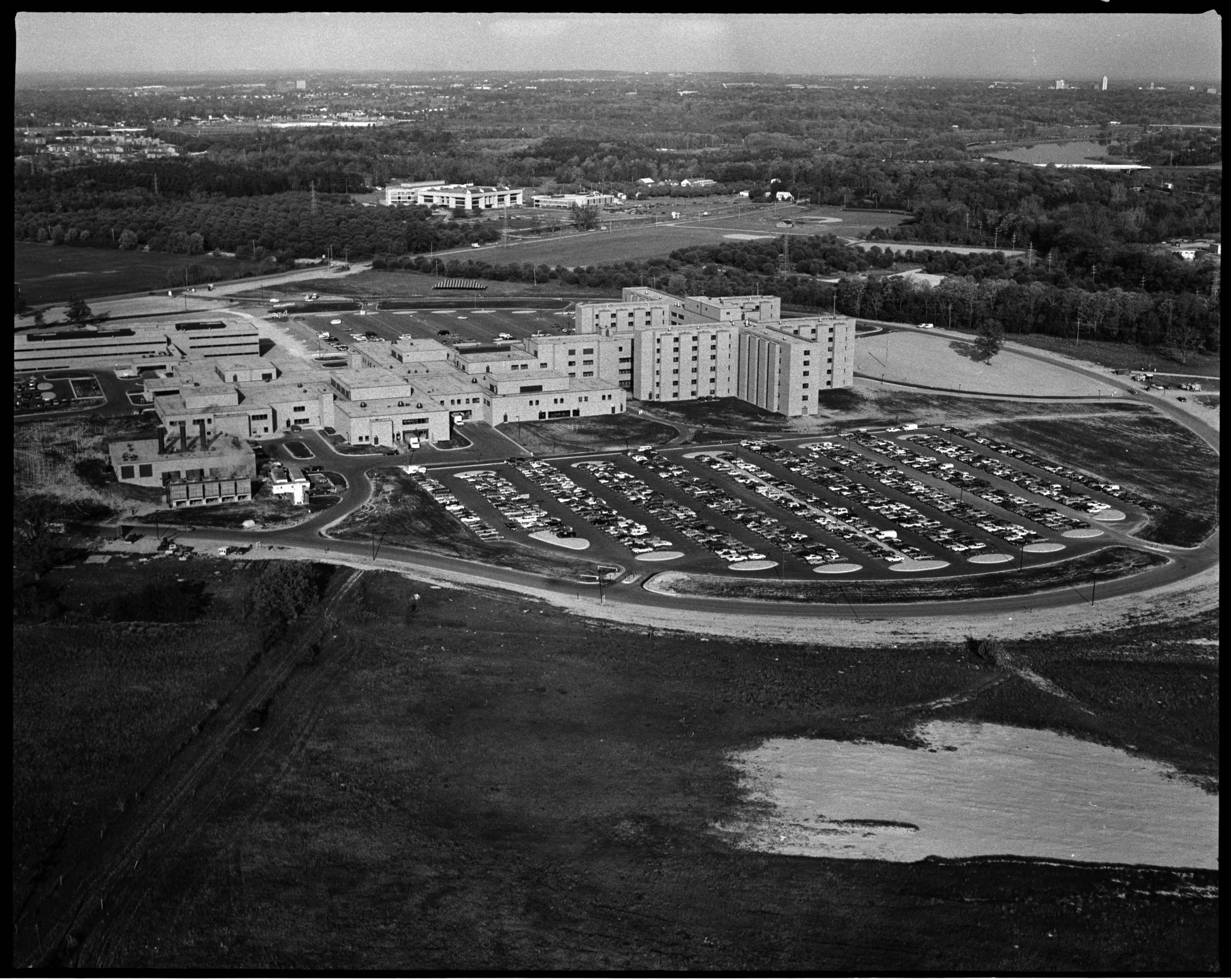 Aerial Photograph of St. Joseph Mercy Hospital, Circa 1977 image