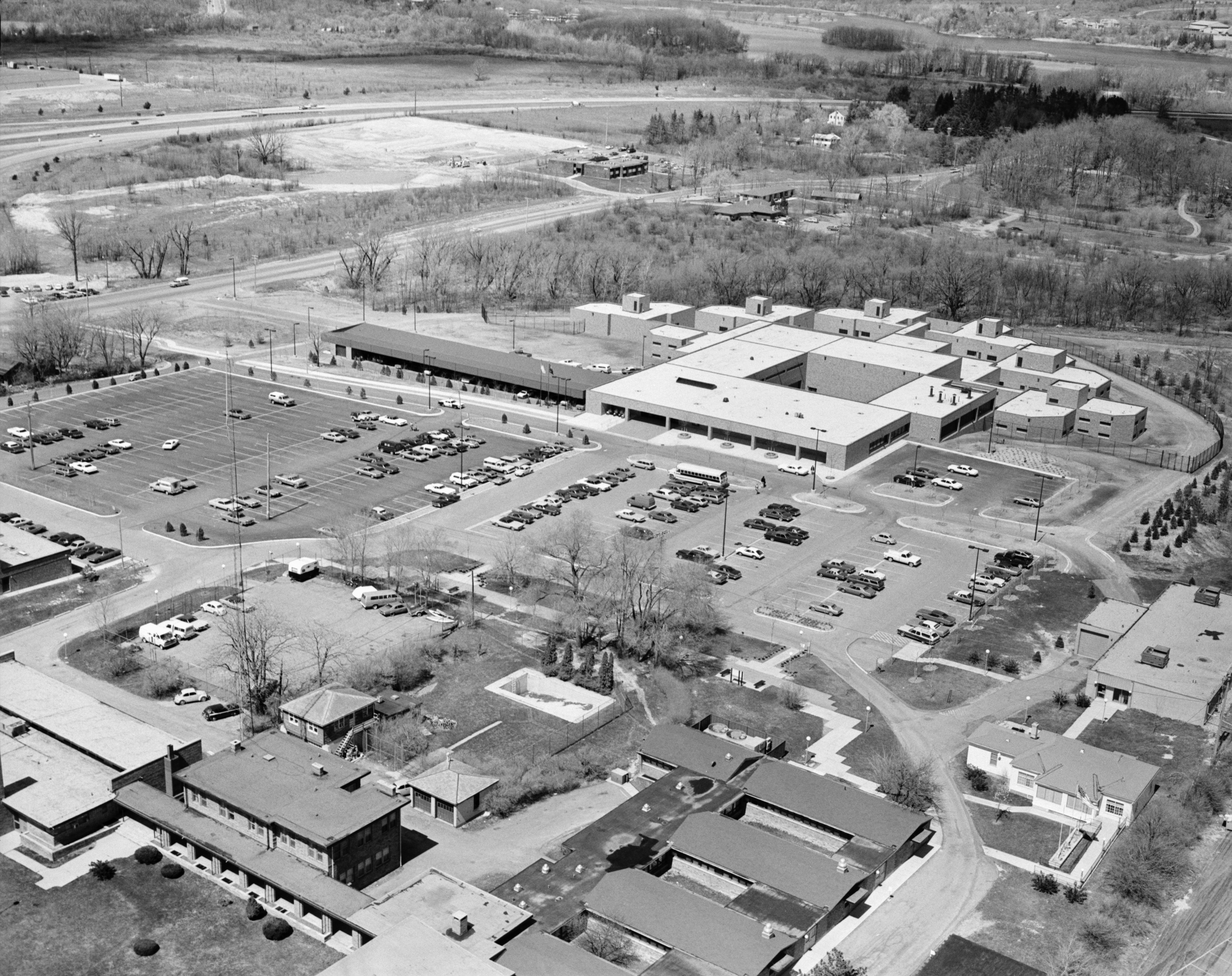 Aerial Photograph of Washtenaw County Jail, April 1978 image