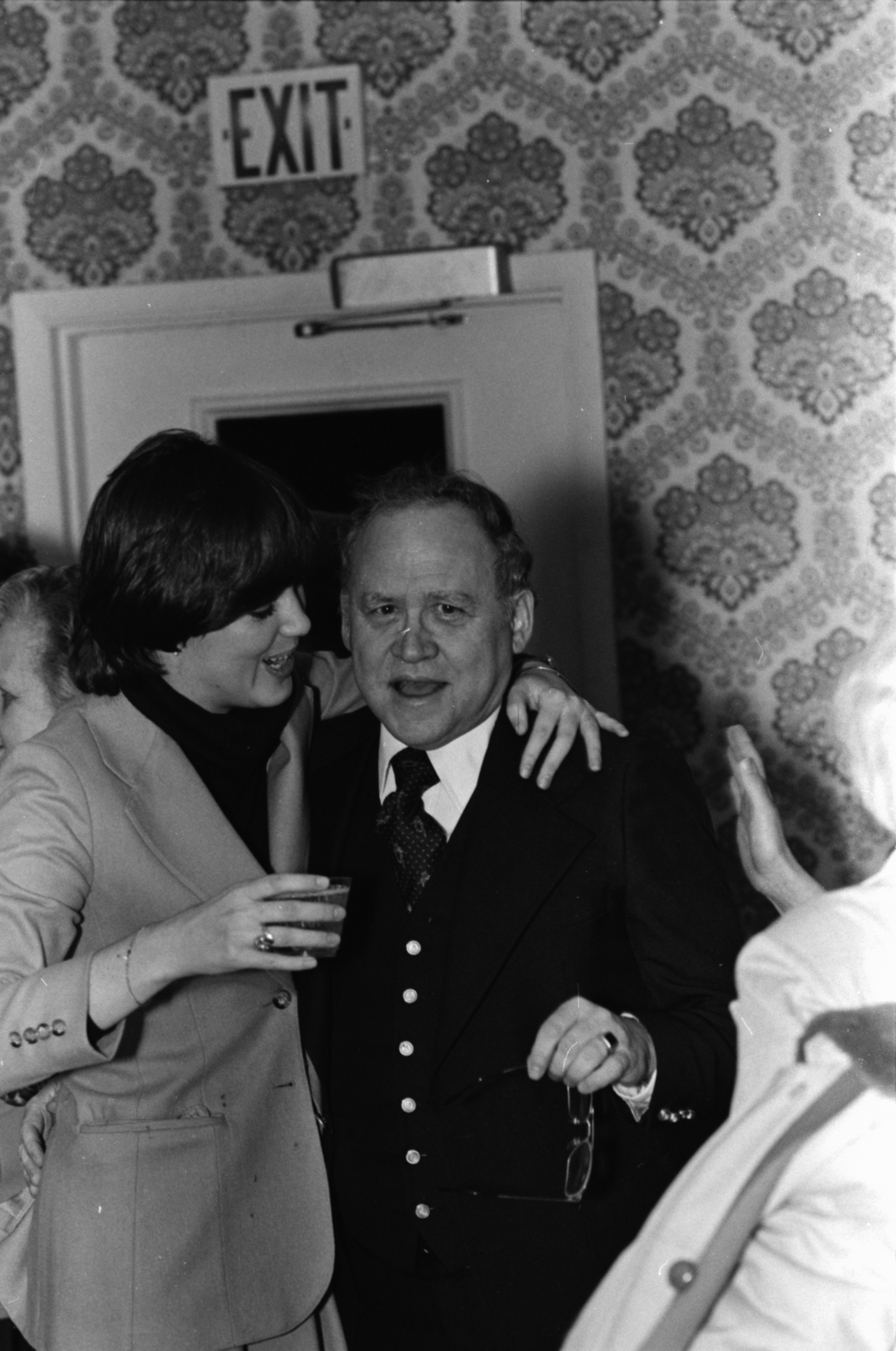 Walter S. Metzger at a surprise party in celebration of the 50th-anniversary of his family's business, December 1978 image