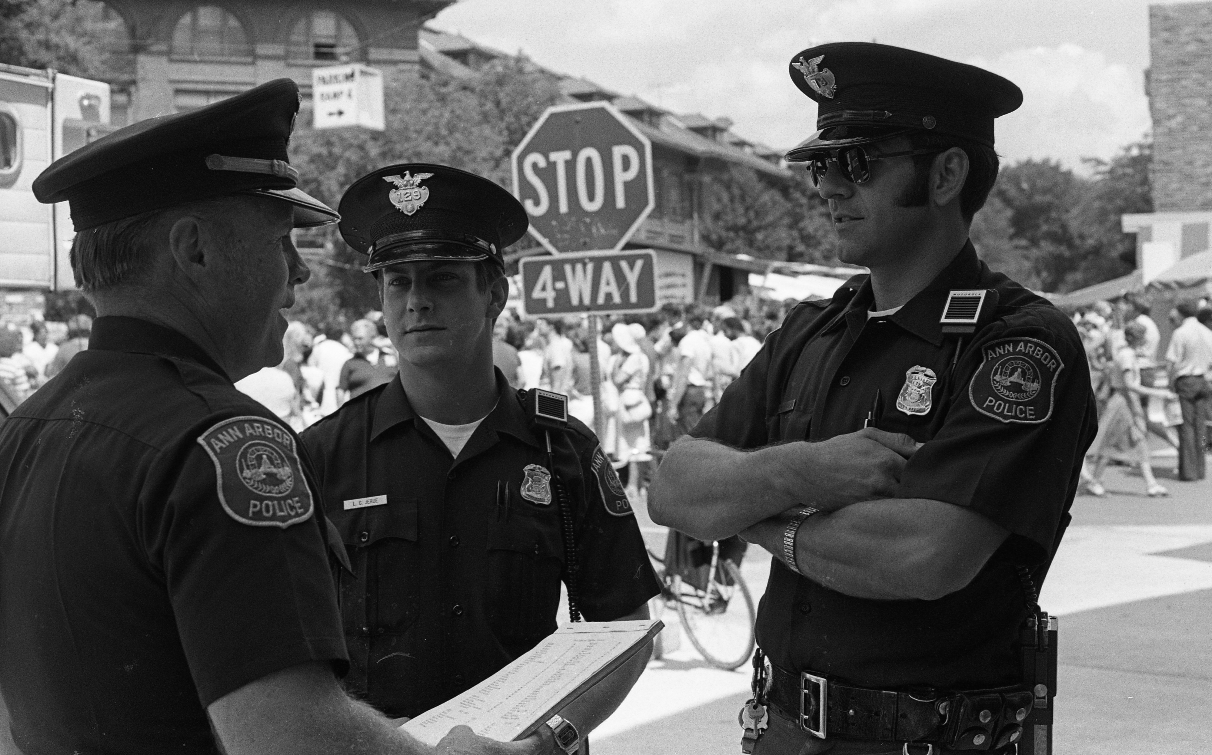 Ann Arbor Police Patrol Art Fair, July 1980 image