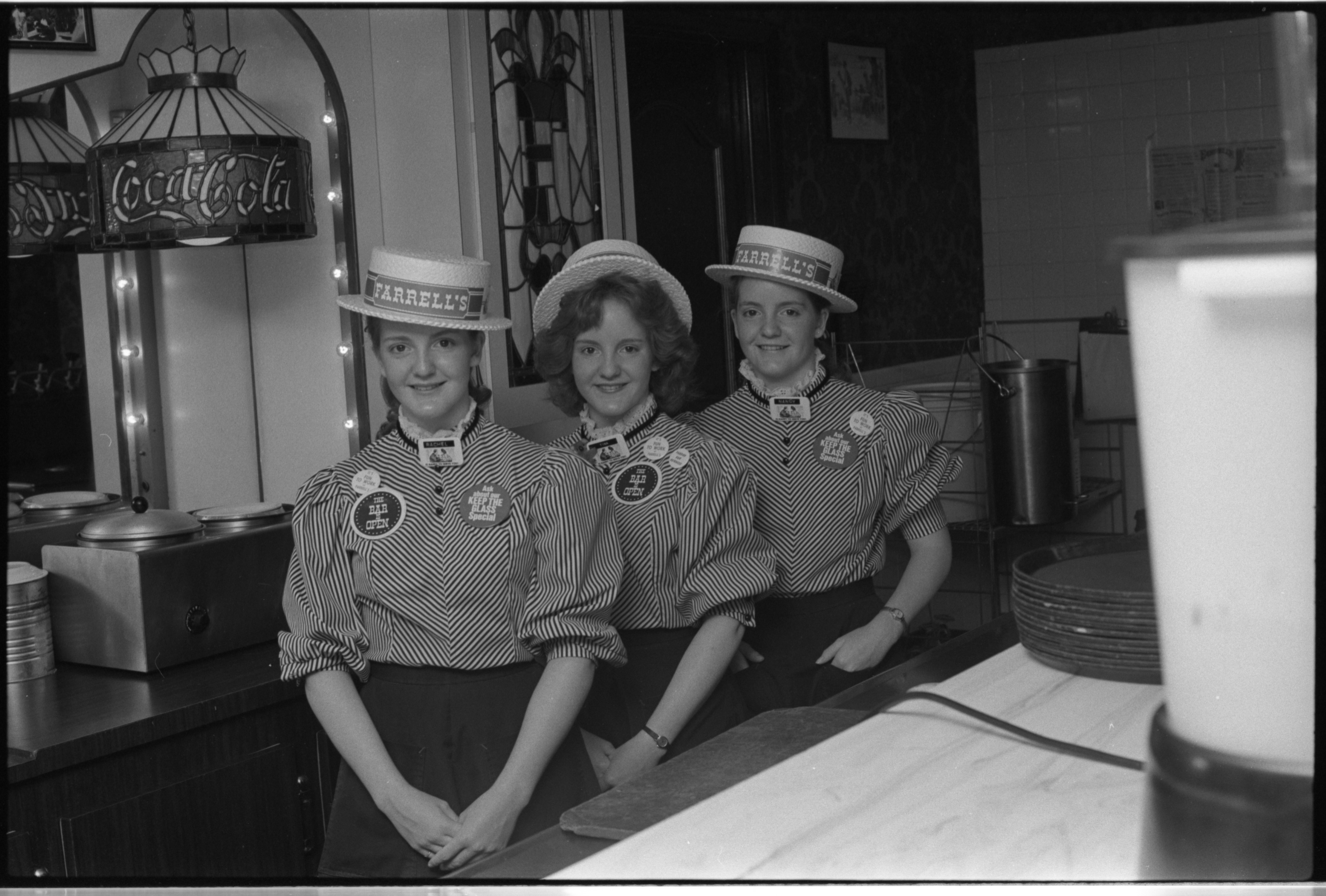 Rachel, Tina, & Nancy Legault At Farrell's Ice Cream Parlour, June 1981 image