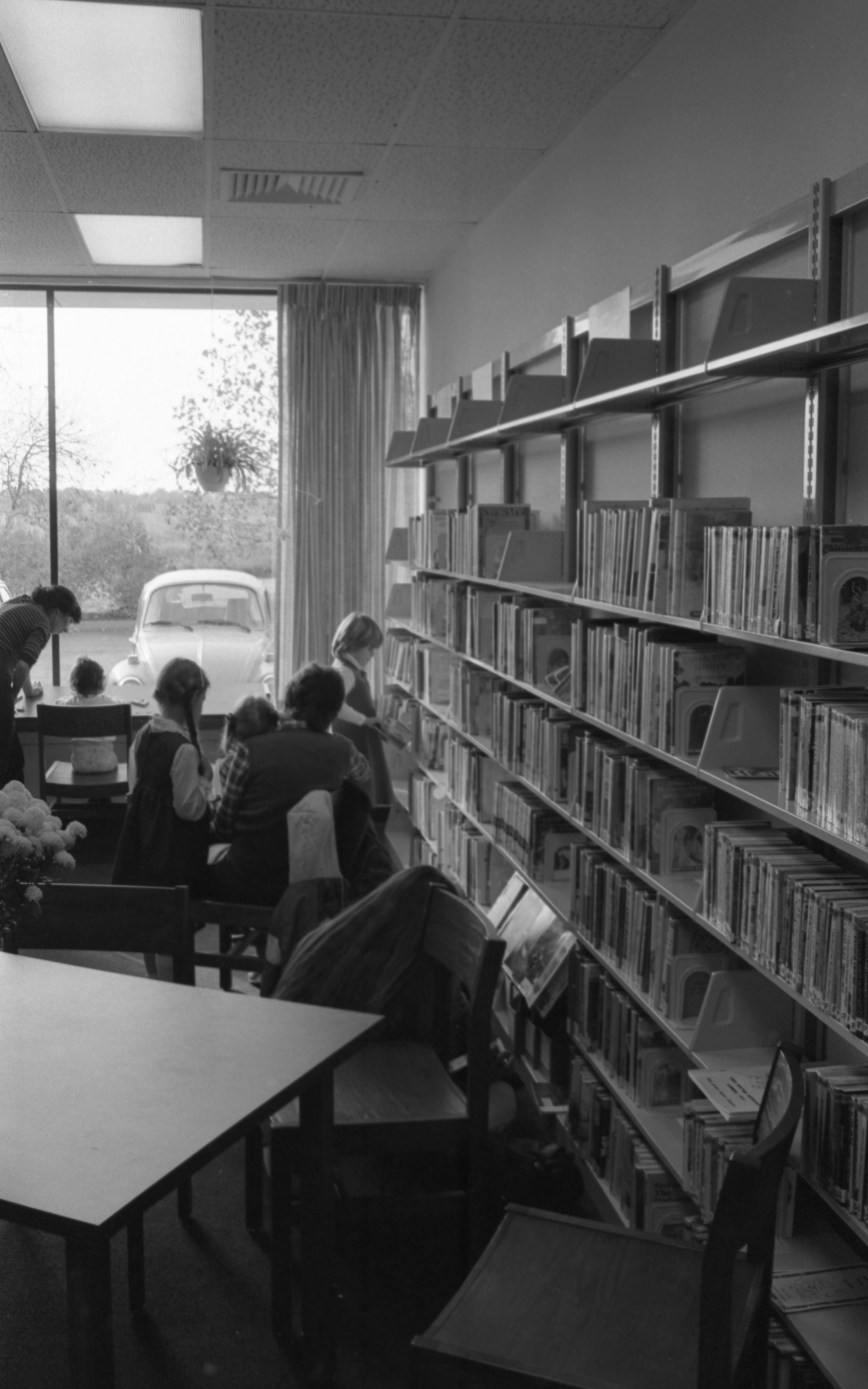 Children Browse Books At The Grand Opening Of The New Northeast Branch Of The Ann Arbor Public Library, October 1981 image