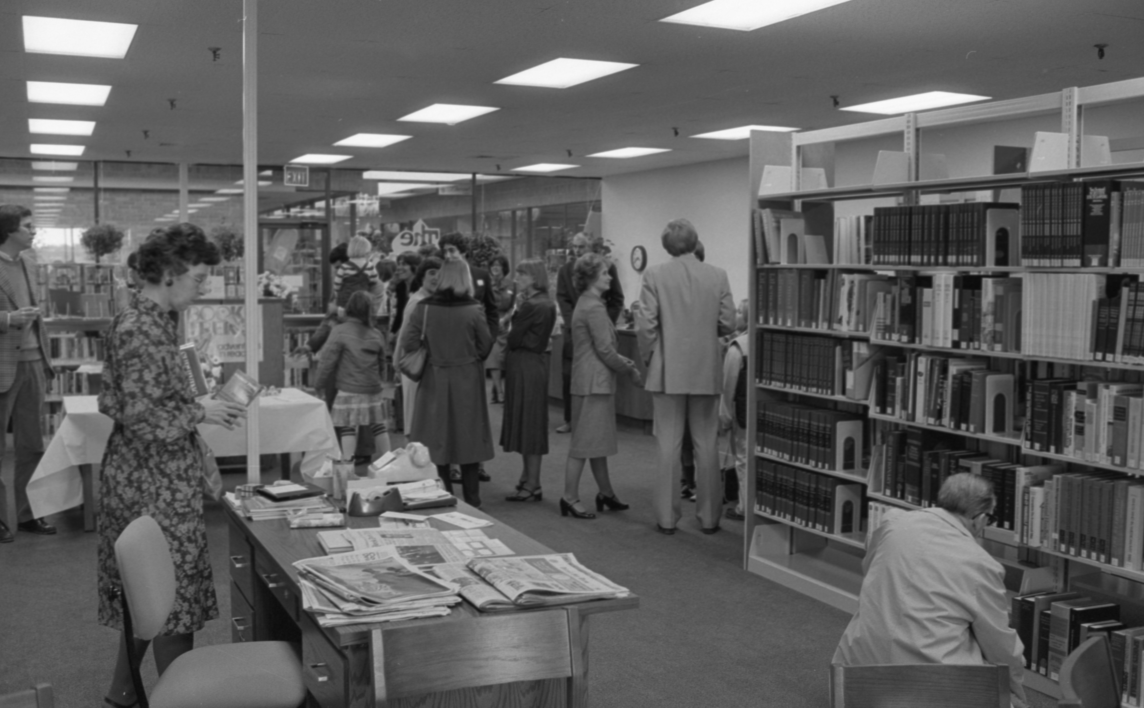Grand Opening Of The New Northeast Branch Of The Ann Arbor Public Library, October 1981 image