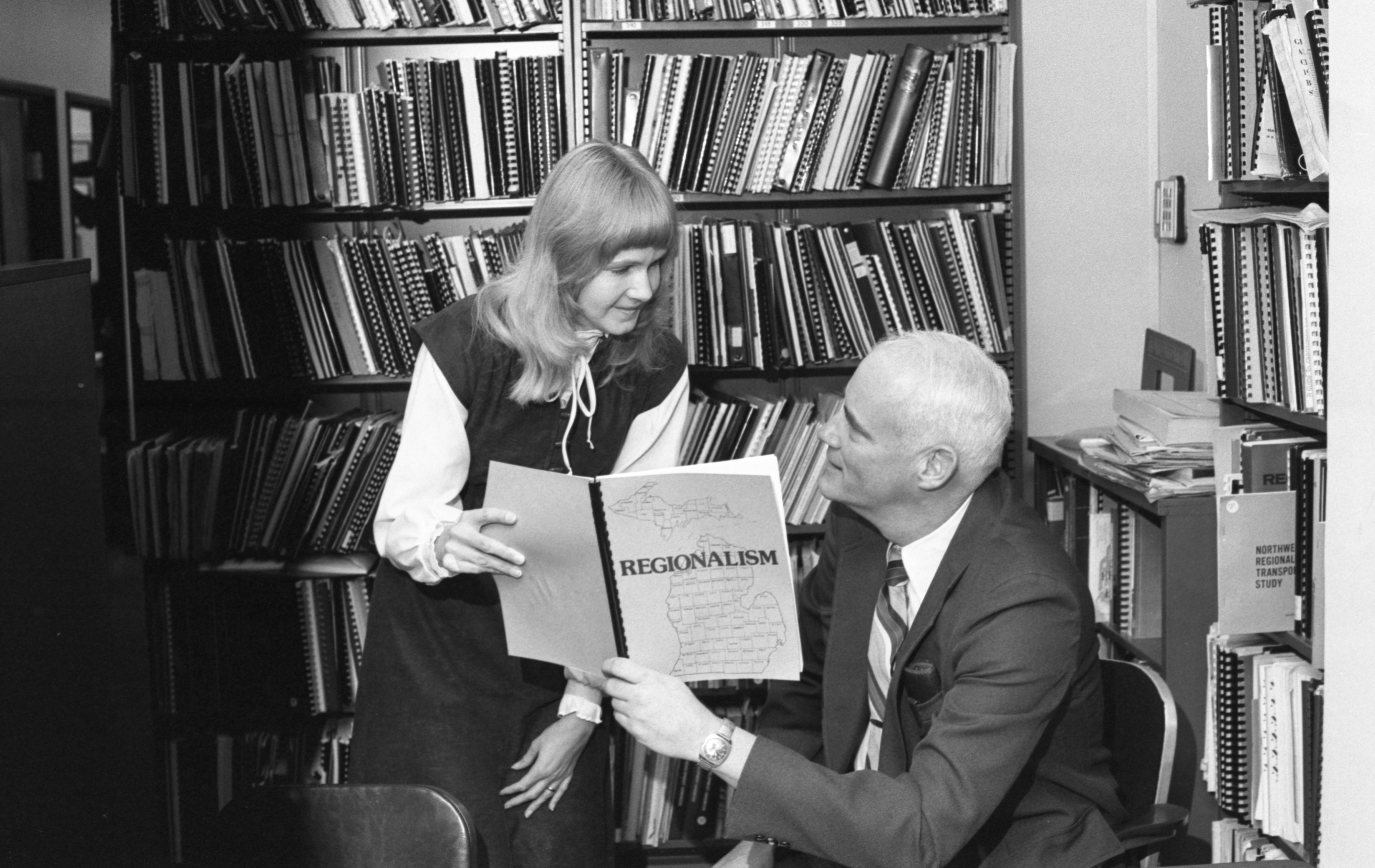 Mariana Kopacz & Thomas J. Fegan With The New League Of Women Voters Publication, January 1982 image