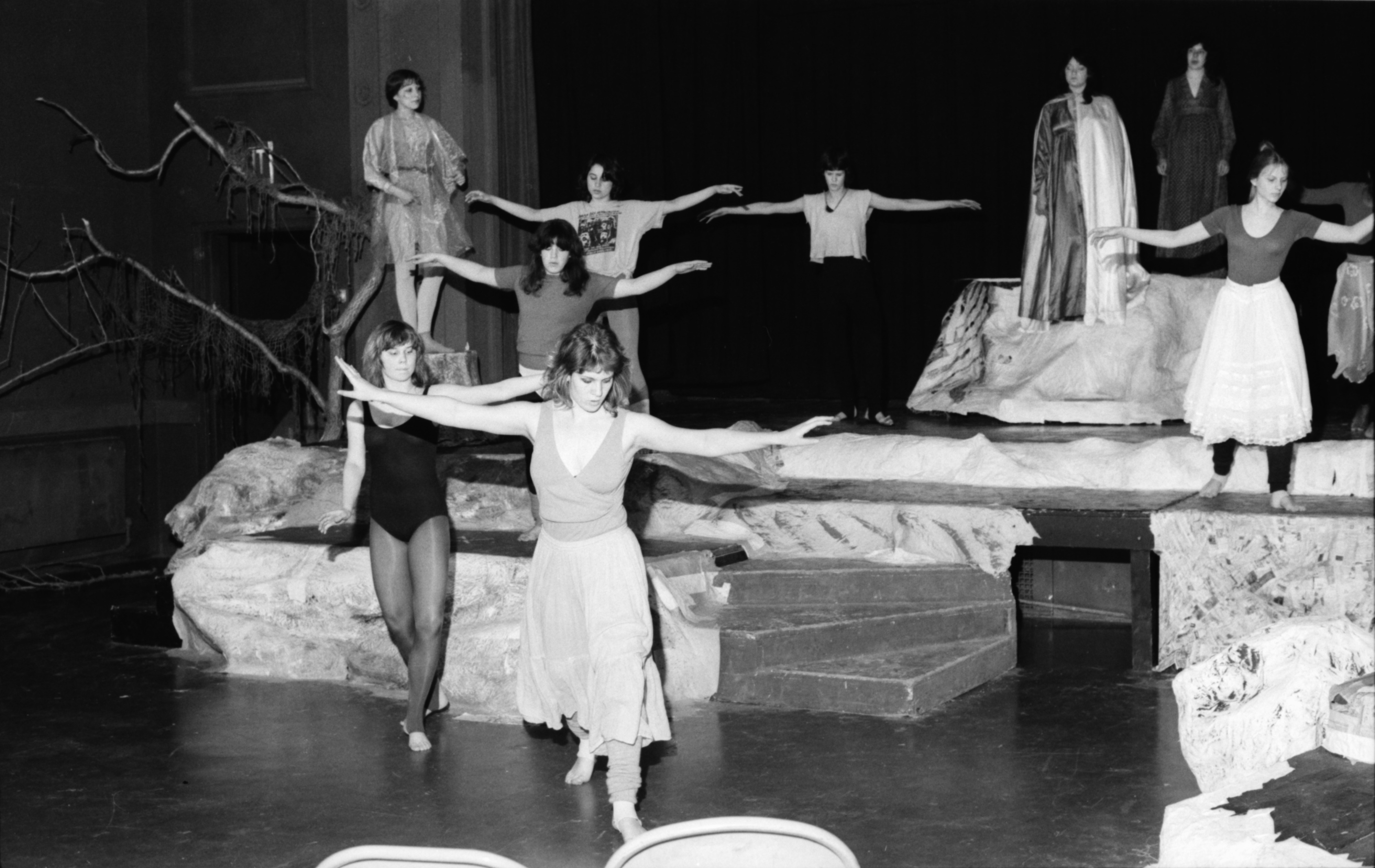 "Community High School stages ""The Tempest,"" April 1982 image"