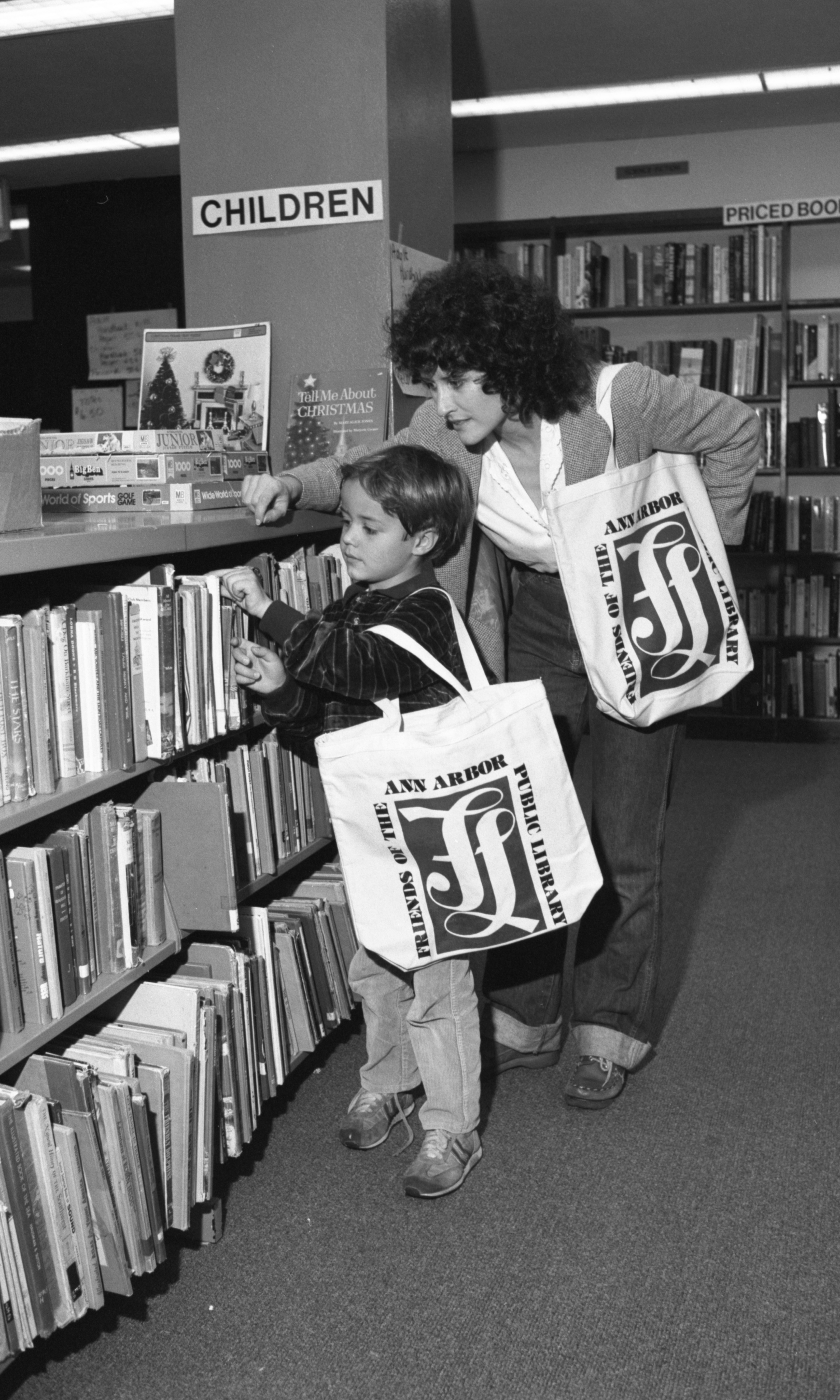 At the Friends of the Ann Arbor Public Library Book Shop, November 1982 image