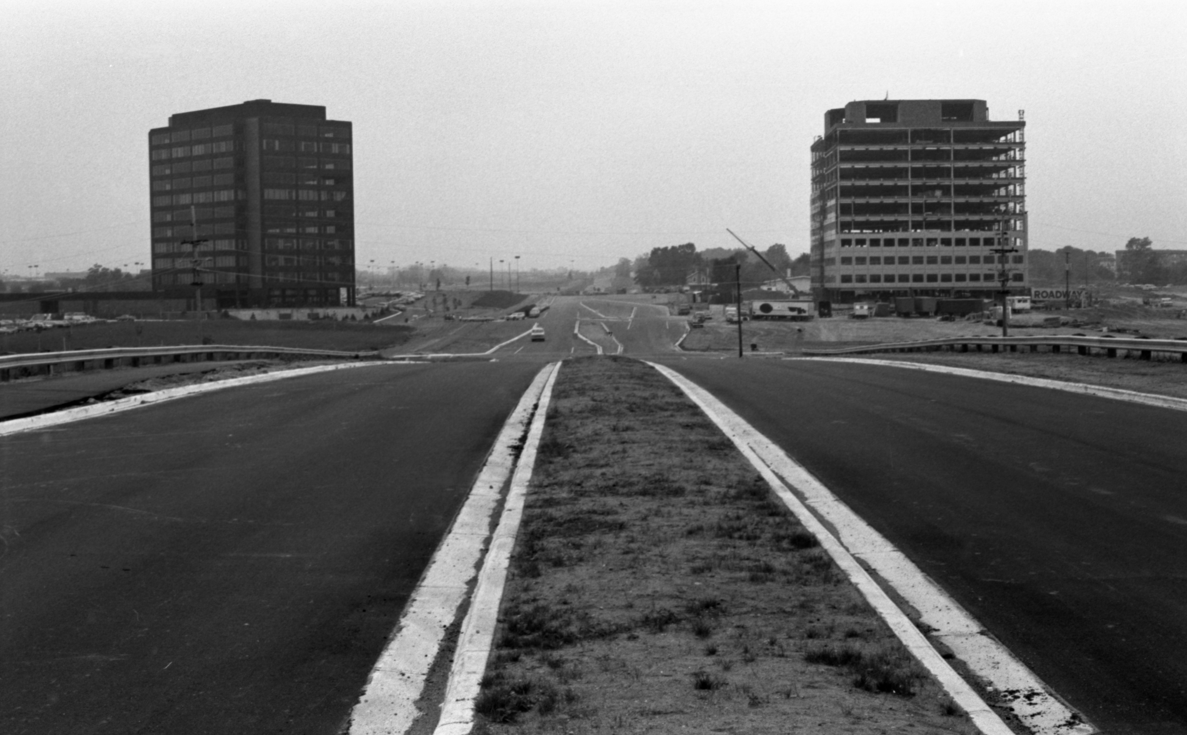 Looking West - Newly Constructed Section Of Eisenhower Parkway Between State Street & Railroad Bridge, September 1974 image