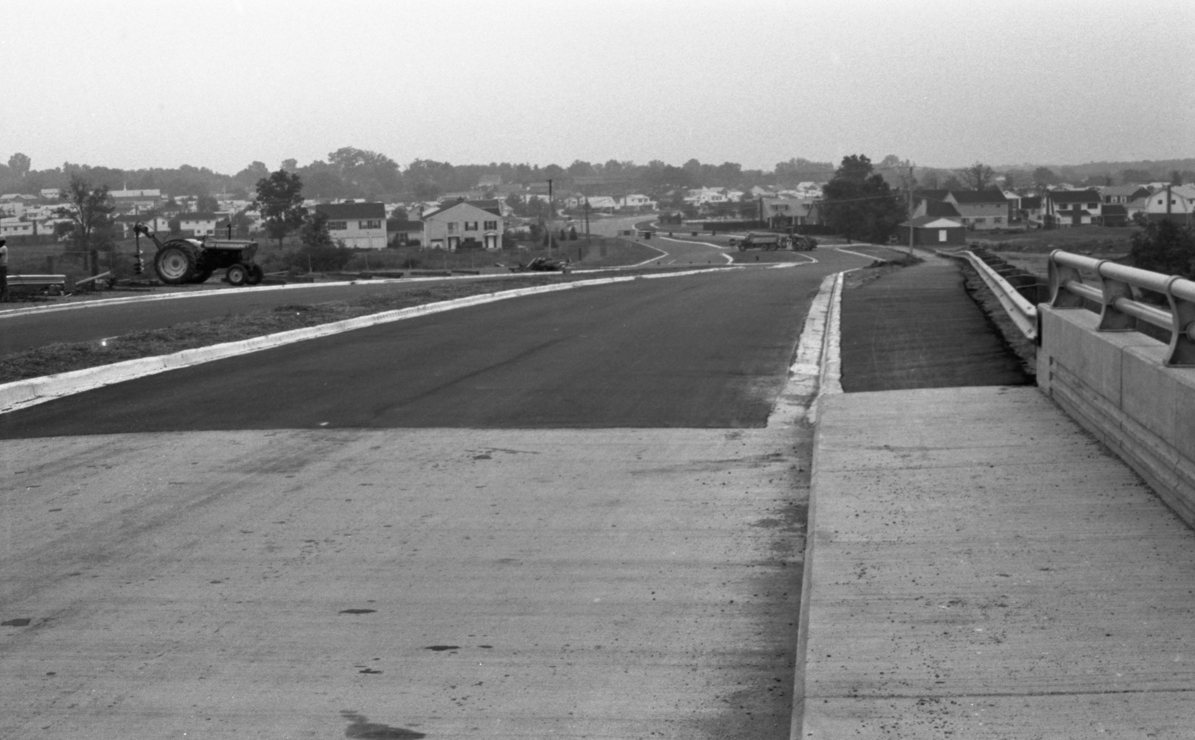 Looking East - Newly Constructed Section Of Eisenhower Parkway Between Railroad Bridge & Hayes Court, September 1974 image