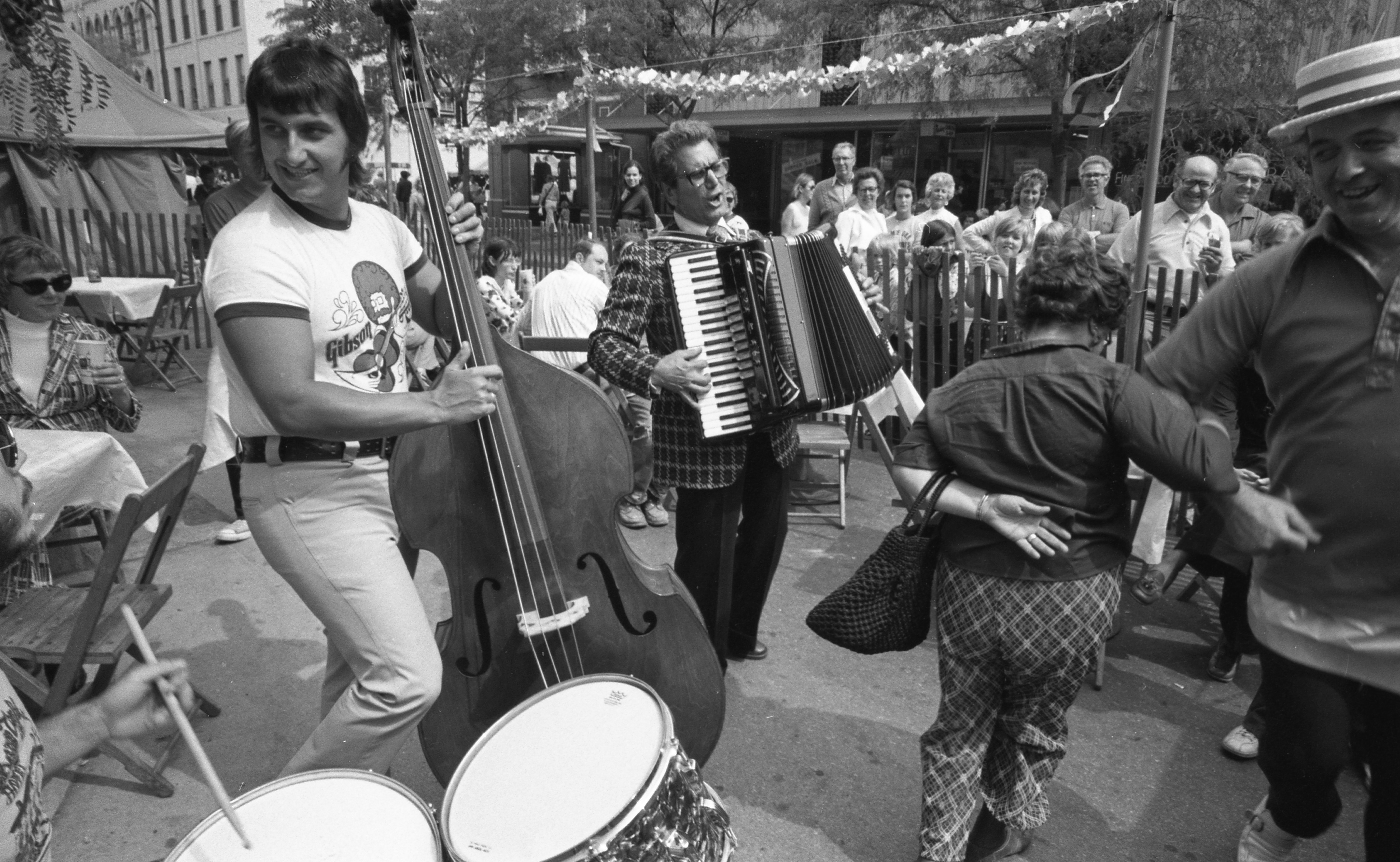 Al Nalli Jr. Plays The Bass While Al Nalli Sr. Plays The Accordion At The Ann Arbor Ethnic Fair, September 1974 image