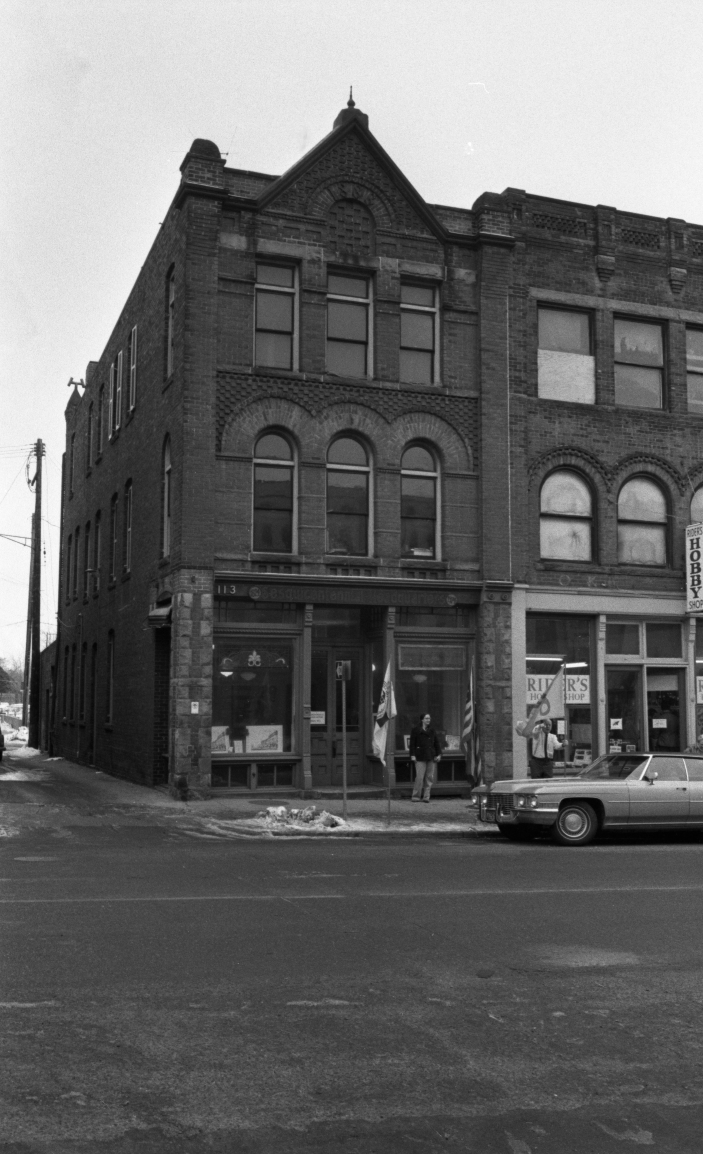 The Haarer Building on Liberty, home of Ann Arbor's Sesquicentennial Office, December 1974 image